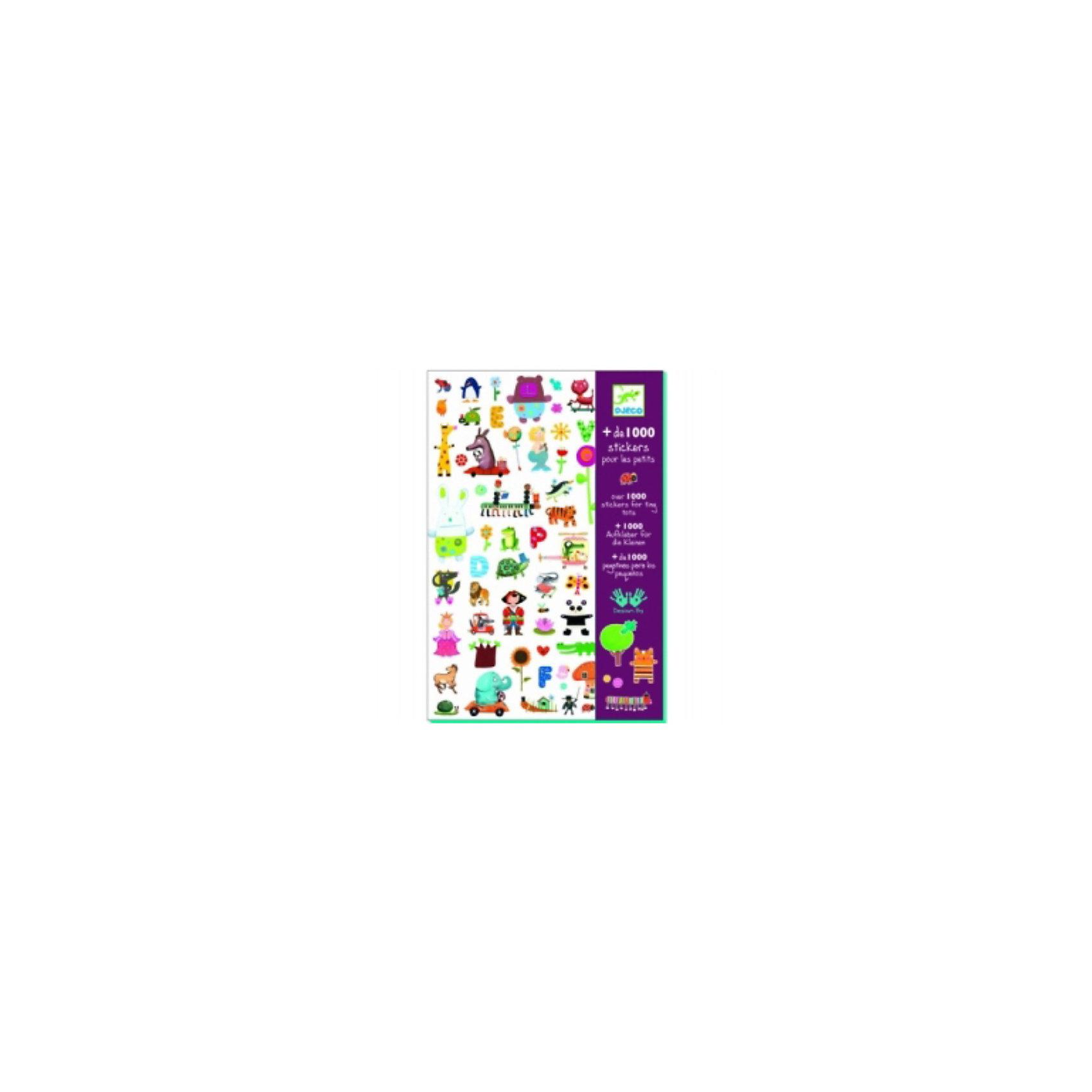 DJECO Набор из 1000 наклеек для малышейЭти очаровательные наклейки украсят любую тетрадь, папку или приглашение на детский праздник! В наборе 1000 наклеек.<br><br>DJECO (Джеко) Набор из 1000 наклеек для малышей можно купить в нашем магазине.<br><br>Ширина мм: 210<br>Глубина мм: 310<br>Высота мм: 100<br>Вес г: 50<br>Возраст от месяцев: 36<br>Возраст до месяцев: 2147483647<br>Пол: Унисекс<br>Возраст: Детский<br>SKU: 2175181