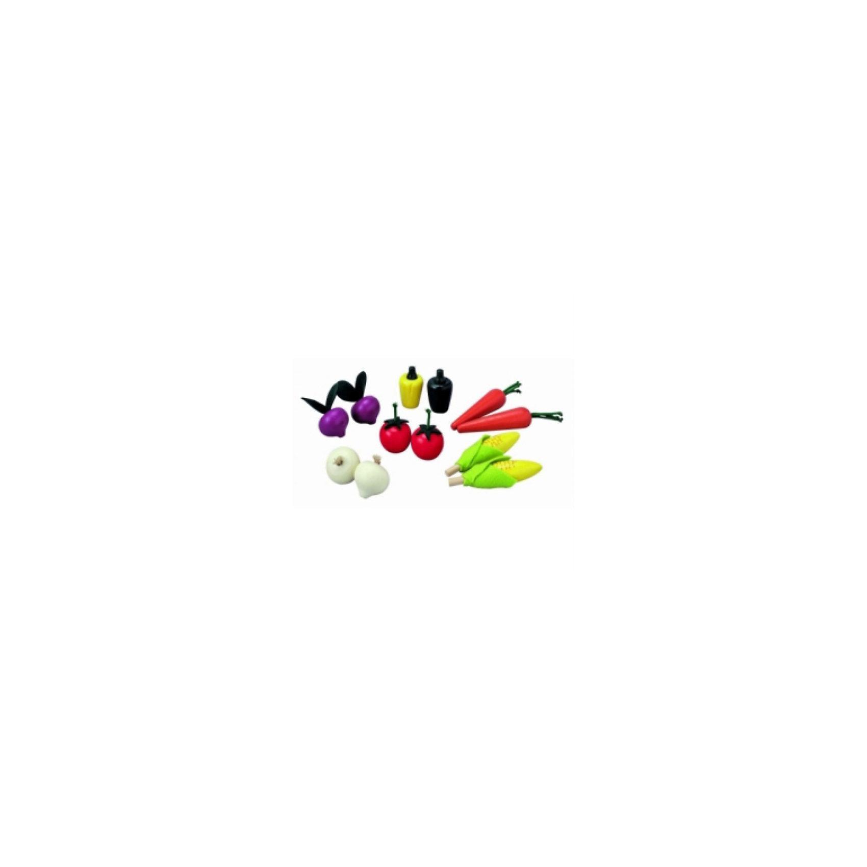 PLAN TOYS 3428 Набор ОвощиНабор включает в себя: 2 помидора, 2 морковки, 2 початка кукурузы, 2 свеклы, 2 перца и 2 чеснока. Прекрасное дополнение к любой кухне Plantoys.<br>Все игрушки выполнены из каучукового дерева с использованием нетоксичных красок и специально изготавливаются с закругленными краями, чтобы избежать вероятности травмирования.<br><br>Ширина мм: 75<br>Глубина мм: 230<br>Высота мм: 188<br>Вес г: 645<br>Возраст от месяцев: 36<br>Возраст до месяцев: 72<br>Пол: Женский<br>Возраст: Детский<br>SKU: 2175237