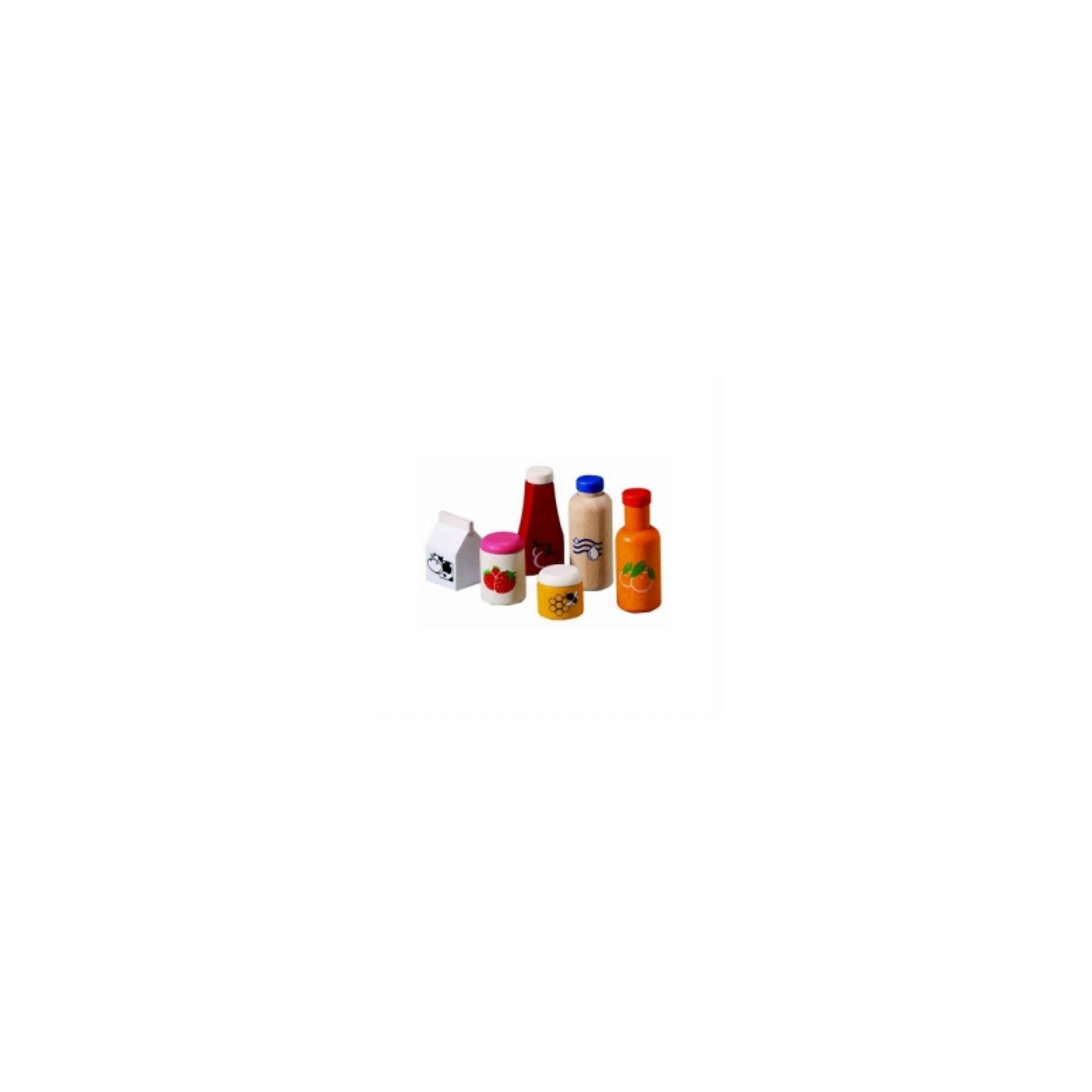 PLAN TOYS 3432 Набор еда и напиткиPLAN TOYS (Плен тойс) 3432: Набор еда и напитки. <br><br>Характеристика:<br><br>• Материал: каучуковое дерево, нетоксичные краски на водной основе.    <br>• Размер упаковки: 18,8х7,5х23 см<br>• Комплектация: фруктовый сок, вода, молоко, кетчуп, баночка варенья и мед. <br>• Все детали  набора отлично детализированы и реалистично раскрашены. <br>• Безопасные закругленные края. <br><br>Набор от PLAN TOYS (Плен тойс) - отличное дополнение к любой ролевой игре. В набор входят еда и напитки для питательного, вкусного и полезного завтрака. Все игрушки прекрасно детализированы и реалистично раскрашены, не имеют острых углов, которые могут травмировать ребенка. Изготовлены из высококачественных материалов с применением гипоаллергенных, нетоксичных красителей.<br><br>PLAN TOYS (Плен тойс) 3432: Набор еда и напитки можно купить в нашем интернет-магазине.<br><br>Ширина мм: 75<br>Глубина мм: 230<br>Высота мм: 188<br>Вес г: 795<br>Возраст от месяцев: 12<br>Возраст до месяцев: 1164<br>Пол: Женский<br>Возраст: Детский<br>SKU: 2175238