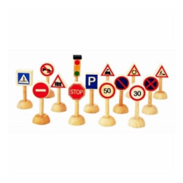 PLAN TOYS 6203 Набор дорожных знаковДорожные знаки и коврики<br>Набор из 13 дорожных знаково и светофора. <br><br>Игра с дорожными знаками поможет родителям объяснить правила дорожного движения и рассказать о том, как правильно переходить дорогу. <br><br>Игрушки серии Plan City расширяют детский кругозор и отлично подходят для ролевых игр. Развивает воображение и творческие способности. <br><br>Дополнительная информация:<br><br>Материал: каучук, нетоксичные краски. <br>Размер знаков: 2,5 х 2,5 х 7 см.<br>Ширина мм: 57; Глубина мм: 95; Высота мм: 188; Вес г: 290; Возраст от месяцев: 60; Возраст до месяцев: 108; Пол: Мужской; Возраст: Детский; SKU: 2175298;