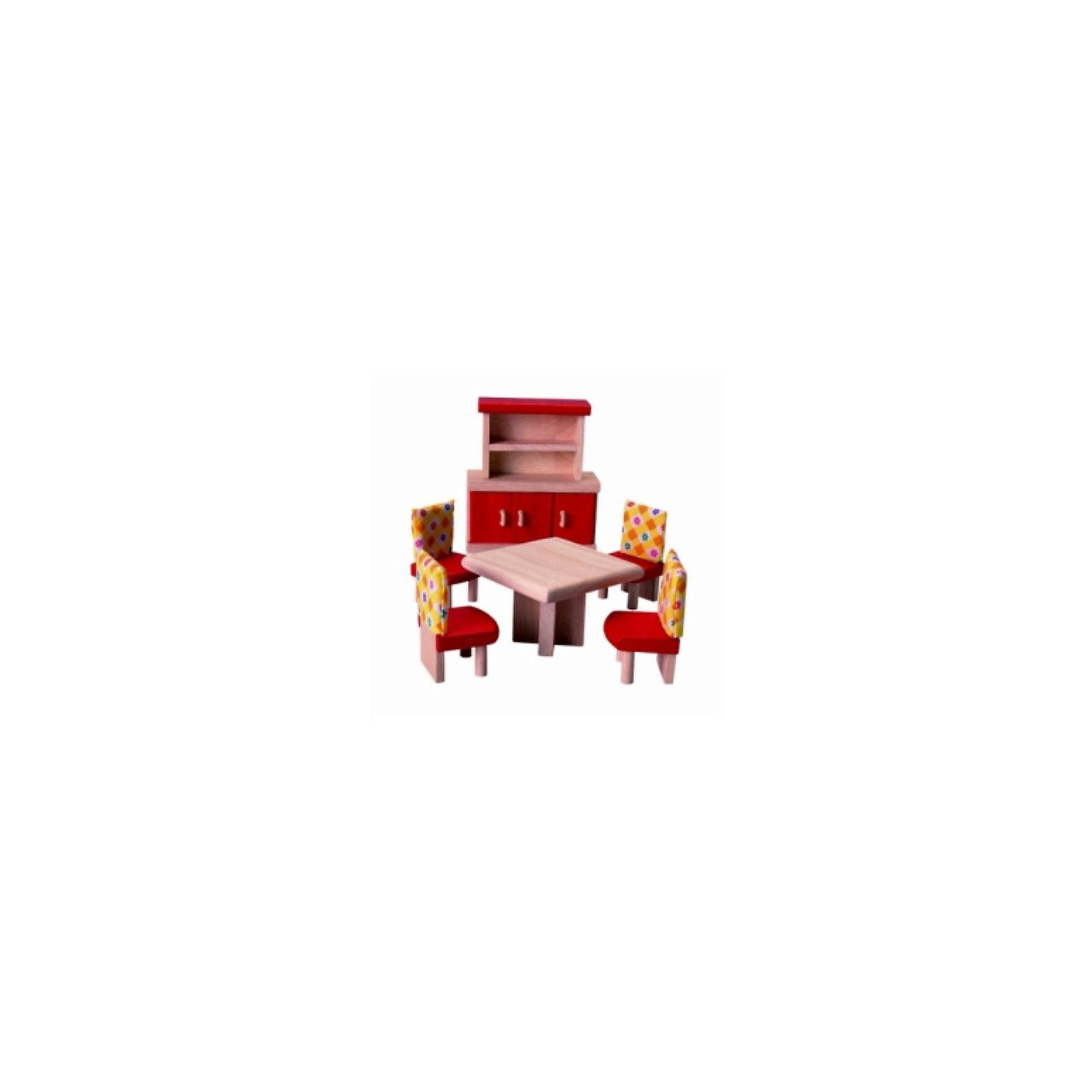 PLAN TOYS 7306 Набор мебели для столовойНабор каучуковой мебели для столовой от PLAN TOYS.<br><br>В набор входит деревянный стол, четыре стула, обитые хлопковой тканью, и буфет. Набор отлично дополнит кукольный домик.<br><br>Все игрушки выполнены из каучукового дерева с использованием нетоксичных красок и специально изготавливаются с закругленными краями, чтобы избежать вероятности травмирования.<br><br>Дополнительная информация:<br><br>Размер буфета: 12 х 5 х 14 см.<br>Размер упаковки: 18,8 х 7,5 х 23 см.<br><br>Материал: каучуковое дерево, хлопок, нетоксичные краски. <br><br>Набор отлично подойдёт для девочек и поможет улучшить социальные навыки, а также развить фантазию.<br><br>Ширина мм: 75<br>Глубина мм: 230<br>Высота мм: 188<br>Вес г: 915<br>Возраст от месяцев: 36<br>Возраст до месяцев: 72<br>Пол: Женский<br>Возраст: Детский<br>SKU: 2175336