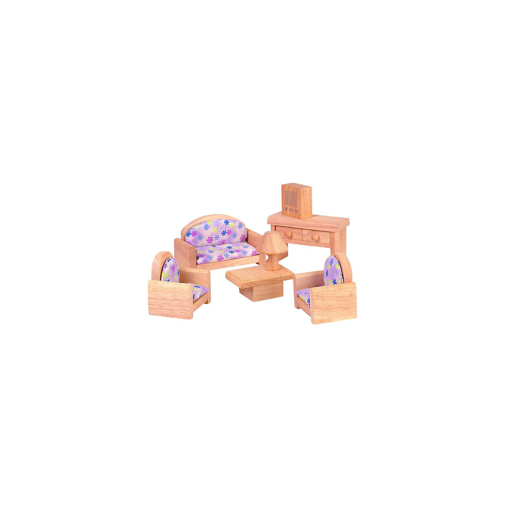PLAN TOYS 9015 Гостиная (классик)Деревянные куклы, домики и мебель<br>Гостинная в классическом стиле. <br><br>В набор входит диван и два кресле с цветочной обивкой, журнальный столик и лампа, а также стол и телевизор.<br><br>Все игрушки выполнены из каучукового дерева с использованием нетоксичных красок и специально изготавливаются с закругленными краями, чтобы избежать вероятности травмирования.<br><br>Дополнительная информация:<br><br>Размер дивана: 11 х 5 х 6 см.<br>Размер упаковки: 18,8 х 9,3 х 23 см.<br>Материал: каучуковое дерево, текстиль.<br><br>Ширина мм: 93<br>Глубина мм: 230<br>Высота мм: 188<br>Вес г: 775<br>Возраст от месяцев: 36<br>Возраст до месяцев: 72<br>Пол: Женский<br>Возраст: Детский<br>SKU: 2175351