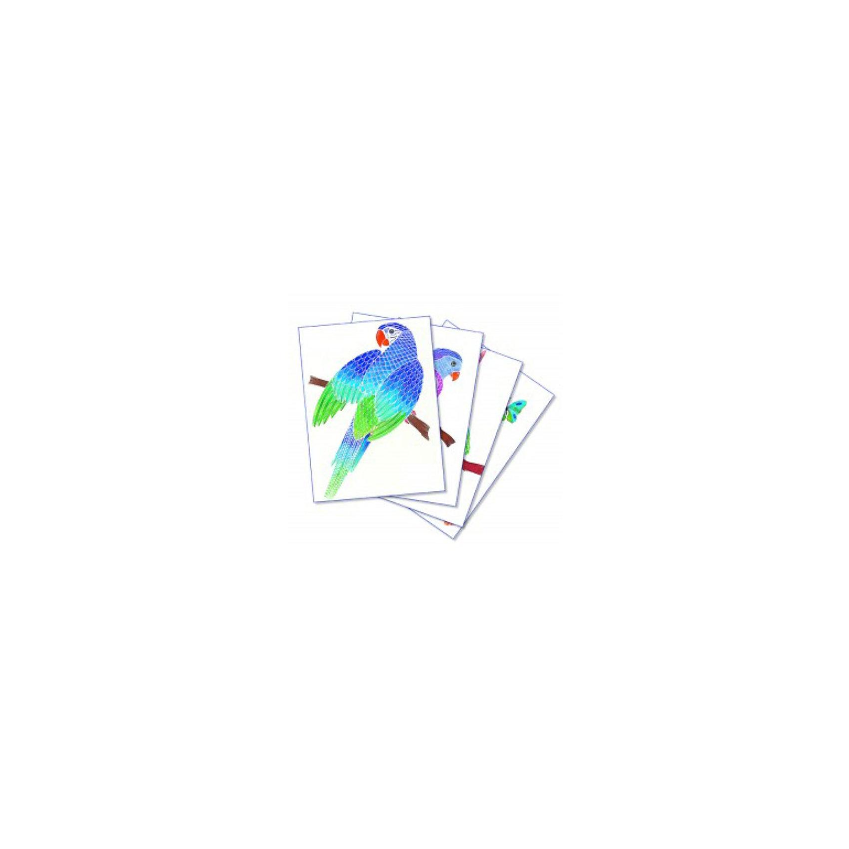 SentoSpherе 654 Акварельная раскраска ПопугаиВсего несколько капель красок и любой ребенок сможет создать настоящие произведения искусства. Акварель для детей основана на технике вставки в оправу тонкого пергамента. Эта техника позволяет картине приклеиться только на специальные поверхности: рисунок появляется по мере проведения кисточкой по бумаге. Картину можно перерисовывать несколько раз, чтобы получить самый красивый результат. Такая техника идеальна, чтобы научить детей составлению цветов. Кроме того, она развивает воображение, точность и внимание. 4 картины; 1 кисть очень высокого качества; 1 палитра для смешивания красок; 5 флаконов не токсичных акварельных красок; 1 пипетка для дозировки красок; 1 инструкция<br><br>Ширина мм: 195<br>Глубина мм: 30<br>Высота мм: 265<br>Вес г: 275<br>Возраст от месяцев: 36<br>Возраст до месяцев: 2147483647<br>Пол: Женский<br>Возраст: Детский<br>SKU: 2176755