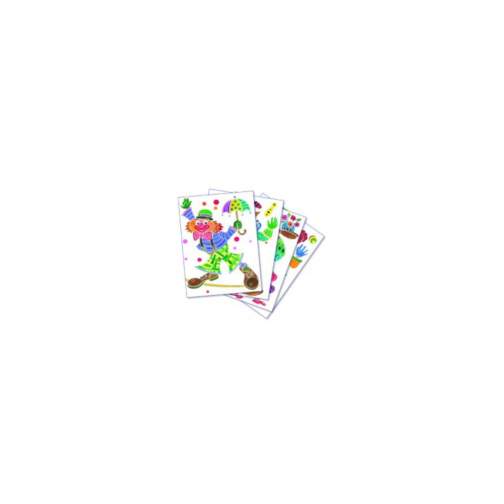 SentoSpherе 655 Акварельная раскраска КлоунВсего несколько капель красок и любой ребенок сможет создать настоящие произведения искусства. Акварель для детей основана на технике вставки в оправу тонкого пергамента. Эта техника позволяет картине приклеиться только на специальные поверхности: рисунок появляется по мере проведения кисточкой по бумаге. Картину можно перерисовывать несколько раз, чтобы получить самый красивый результат. Такая техника идеальна, чтобы научить детей составлению цветов. Кроме того, она развивает воображение, точность и внимание. 4 картины; 1 кисть очень высокого качества; 1 палитра для смешивания красок; 5 флаконов не токсичных акварельных красок; 1 пипетка для дозировки красок; 1 инструкция<br><br>Ширина мм: 195<br>Глубина мм: 30<br>Высота мм: 265<br>Вес г: 275<br>Возраст от месяцев: 36<br>Возраст до месяцев: 2147483647<br>Пол: Унисекс<br>Возраст: Детский<br>SKU: 2176756