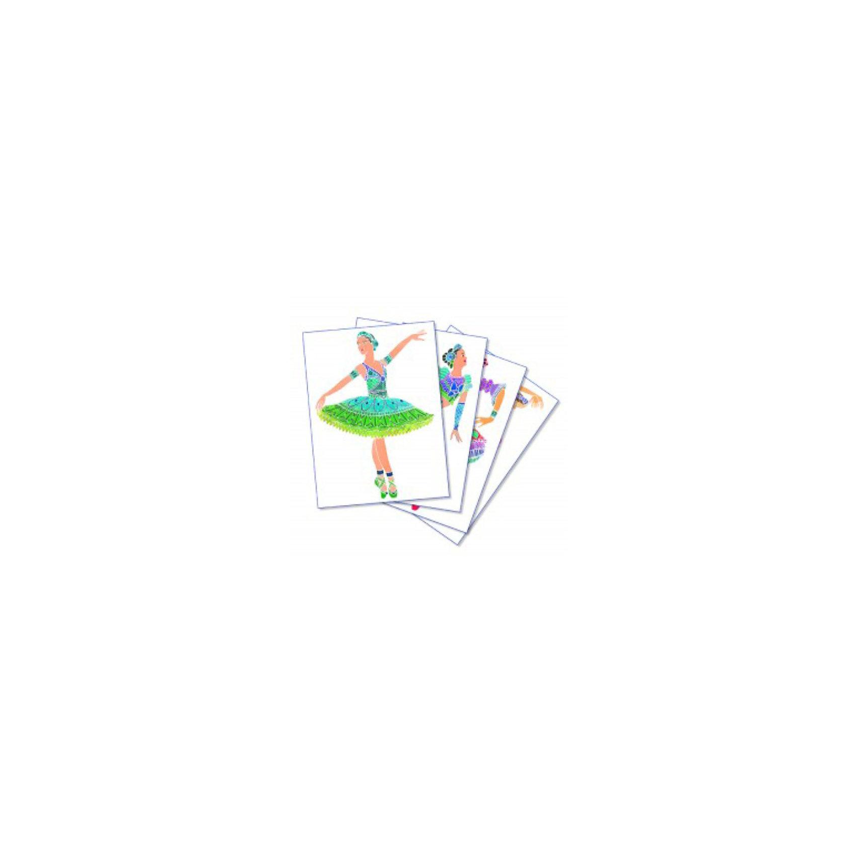SentoSpherе 667 Акварельная раскраска ТанцовщицыВсего несколько капель красок и любой ребенок сможет создать настоящие произведения искусства. Акварель для детей основана на технике вставки в оправу тонкого пергамента. Эта техника позволяет картине приклеиться только на специальные поверхности: рисунок появляется по мере проведения кисточкой по бумаге. Картину можно перерисовывать несколько раз, чтобы получить самый красивый результат. Такая техника идеальна, чтобы научить детей составлению цветов. Кроме того, она развивает воображение, точность и внимание. 4 картины; 1 кисть очень высокого качества; 1 палитра для смешивания красок; 5 флаконов не токсичных акварельных красок; 1 пипетка для дозировки красок; 1 инструкция<br><br>Ширина мм: 270<br>Глубина мм: 200<br>Высота мм: 38<br>Вес г: 493<br>Возраст от месяцев: 36<br>Возраст до месяцев: 2147483647<br>Пол: Женский<br>Возраст: Детский<br>SKU: 2176759