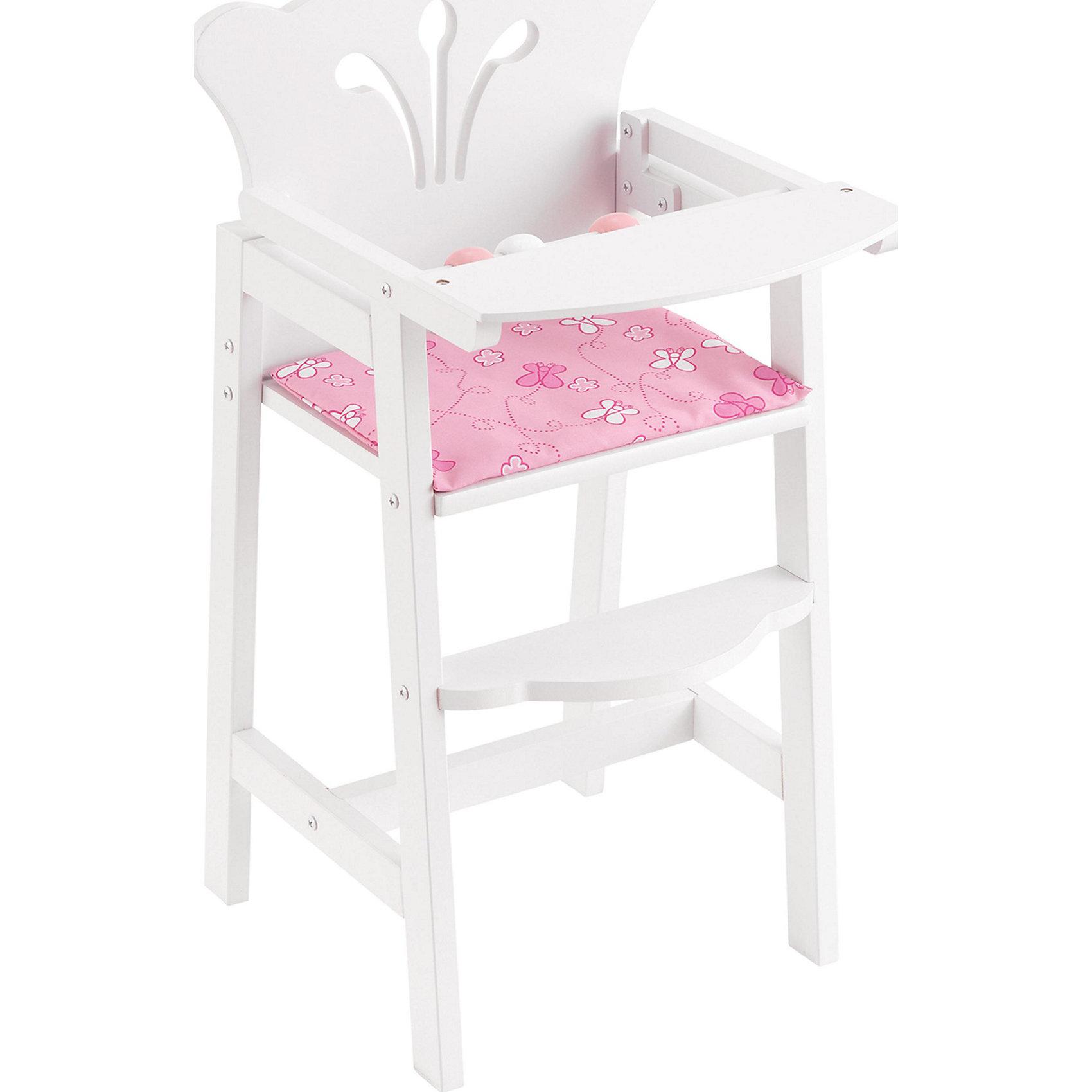 Кукольный стульчик для кормления куклы, KidKraft<br><br>Ширина мм: 500<br>Глубина мм: 310<br>Высота мм: 70<br>Вес г: 3000<br>Возраст от месяцев: 36<br>Возраст до месяцев: 60<br>Пол: Женский<br>Возраст: Детский<br>SKU: 2196253