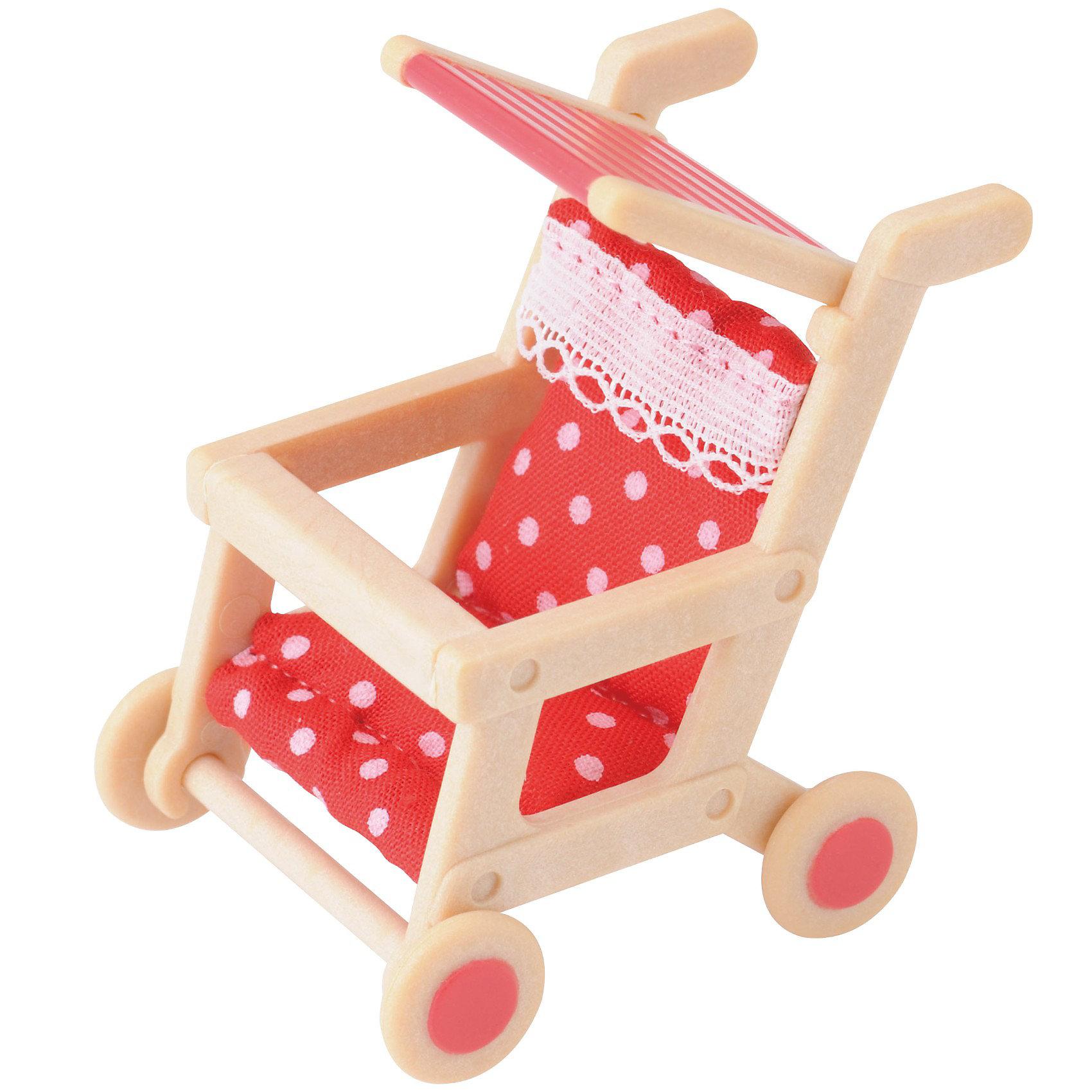 Набор Детская коляска Sylvanian FamiliesНабор Детская коляска  от Sylvanian Family ((Сильвания Фэмили) -  это прекрасная  летняя прогулочная коляска, о которой мечтает каждая девочка, ведь теперь она сможет разыгрывать сценки из собственной жизни! <br><br>Коляска выполнена из качественной пластмассы. Сиденья сделаны из мягкого текстильного материала.  У коляски есть ручки, барьер безопасности, подножки и 4 колёсика, которые легко вращаются. Поручень находится на уровне лапок мамы, поэтому она сможет легко катить коляску перед собой. Солнцезащитный тент легко складывается и поднимается – малышу  не страшны дождь и солнце!<br><br>В  наборе: Детская коляска с подушкой, подходит для зверят размером 5,5 см.<br>Размер коробки: 18 * 17 * 8 см.<br><br>Ширина мм: 75<br>Глубина мм: 93<br>Высота мм: 45<br>Вес г: 26<br>Возраст от месяцев: 36<br>Возраст до месяцев: 72<br>Пол: Женский<br>Возраст: Детский<br>SKU: 2196841