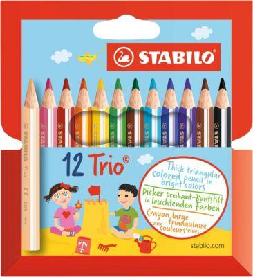 STABILO Набор цветных карандашей, 12 цв., Trio