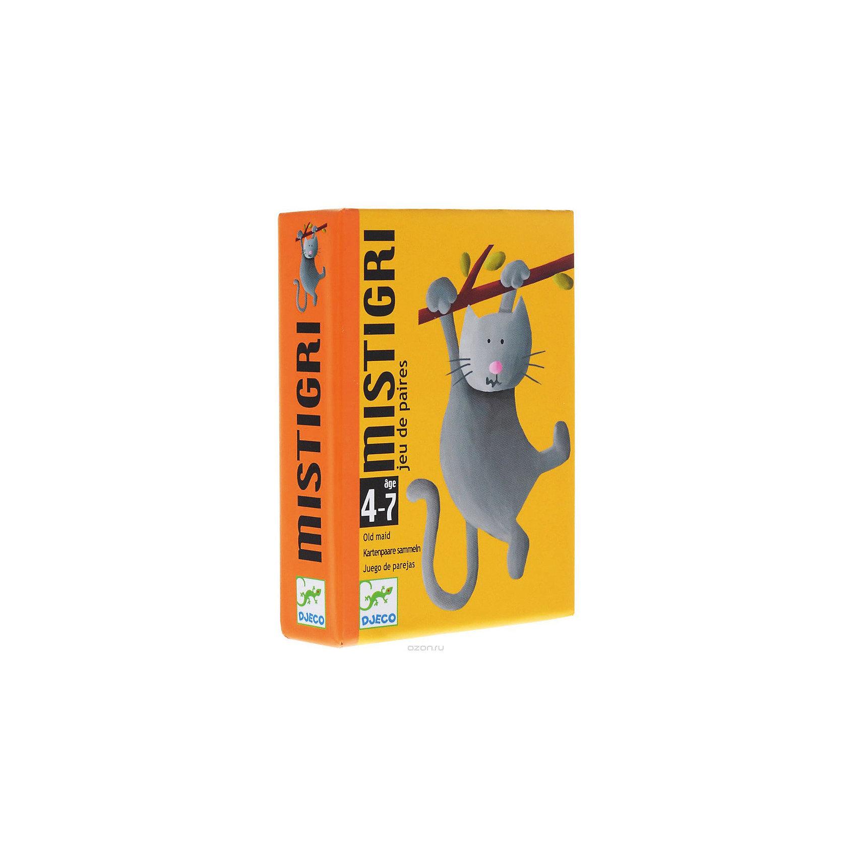 DJECO Настольная игра Мистигри, DJECO игры для малышей djeco детская настольная карточная игра мини семья