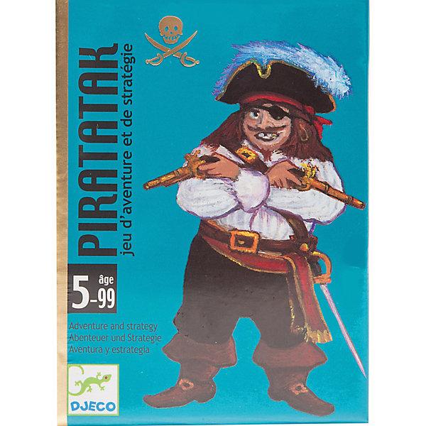Настольная игра Пират, DJECOСтратегические настольные игры<br>Настольная игра Пират - увлекательная стратегическая игра для всей семьи. Цель игры: первым построить корабль своего цвета. <br>В комплекте 55 карт. 24 карты Корабль, 20 карт Золото, 8 карт Пират, 3 карты Пушка. <br><br>Дополнительная информация:<br><br>Количество игроков: 2-4.<br><br>Размер упаковки (д/ш/в): 8,5 х 2,8 х 11,7 см.<br><br>Почувствуйте себя настоящими пиратами, пытаясь построить свой корабль!<br><br>Настольную Игру Пират, DJECO (Джеко) можно купить в нашем магазине.<br><br>Ширина мм: 85<br>Глубина мм: 28<br>Высота мм: 117<br>Вес г: 300<br>Возраст от месяцев: 60<br>Возраст до месяцев: 108<br>Пол: Унисекс<br>Возраст: Детский<br>SKU: 2199968