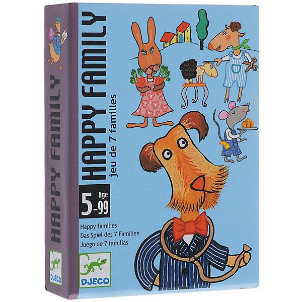 Карточная игра Счастливая семейка, DJECOНастольные игры для всей семьи<br>Цель игры: собрать наибольшее количество семей. Игроки группируют карты по семьям, делая ходы по очереди и используя карты из общей колоды и карты соперников. <br><br>Дополнительная информация:<br><br>- В наборе: 42 карты, 7 семей, 7 профессий.<br>- Игра позволяет развивать реакцию, внимание, память.<br>- Количество игроков: 2-4.<br><br>Карточную Игру Счастливая семейка, DJECO (Джеко) можно купить в нашем магазине.<br>Ширина мм: 85; Глубина мм: 28; Высота мм: 117; Вес г: 300; Возраст от месяцев: 60; Возраст до месяцев: 108; Пол: Унисекс; Возраст: Детский; SKU: 2199969;