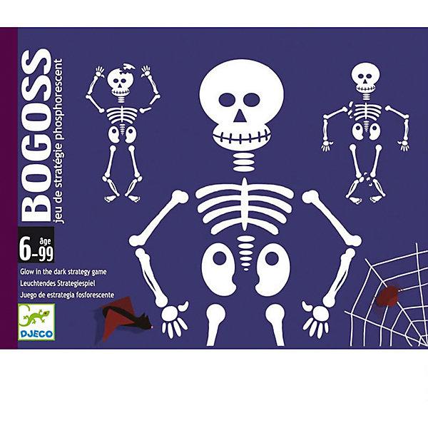 Настольная игра Богос, DJECOНастольные игры для всей семьи<br>Детская карточная игра Богос.<br>Колода состоит из 44 фосфоресцентных карт, 30 карт скелет (с зелёным кружочком), 12 сломанный скелет (с красным кружочком) и 2 карты джокер. Игроки получают по 6 карт, и используя карты соперников пытаются собрать скелет (целый или сломанный) из 6 карт. Для победы необходимо собрать два целых или один сломанный скелет. Карты светятся в темноте позволяя создать мистический антураж. Можно играть в сумерки. <br>Игра развивает внимательность и позволяет получить начальные знания о физиологии человека. Количество игроков: 2-4<br><br><br>Настольную Игру Богос, DJECO (Джеко) можно купить в нашем магазине.<br>Ширина мм: 117; Глубина мм: 28; Высота мм: 156; Вес г: 300; Возраст от месяцев: 72; Возраст до месяцев: 120; Пол: Унисекс; Возраст: Детский; SKU: 2199975;