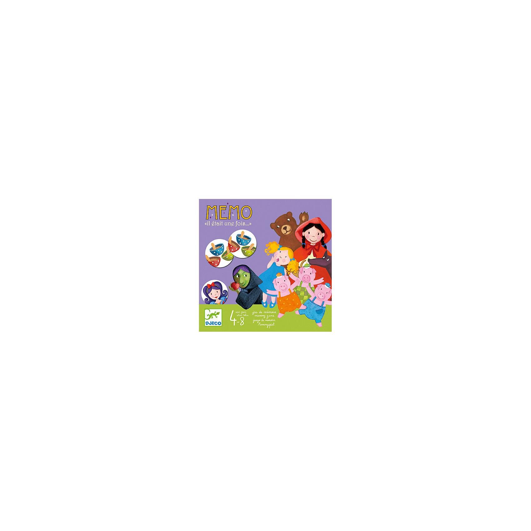 Игра Жили-были, DJECOУвлекательная игра-мемо Жили-были, Djeco (Джеко) - идеальный вариант для совместного времяпрепровождения с ребенком или для детского праздника. Игра направлена на развитие навыков запоминания с интересным для ребенка сюжетом - персонажами сказок. На каждой из четырех табличек (Златовласка, Три поросенка, Красная шапочка, Белоснежка) изображены герои, которых и должен найти игрок среди всех карточек. В игре могут участвовать от 1 до 4 игроков. Перед началом игры карточки с героями укладываются рубашками вверх. Все участники по очереди открывает по две карты: парные карточки забирают себе, а непарные укладывают обратно на то же место рубашкой вверх. Задача игроков - собрать как можно больше парных карточек. Во втором варианте игры каждый игрок собирает карточки определенной сказки. Игра прекрасно развивает внимание и память.<br><br>Дополнительная информация:<br><br>- В комплекте: 4 таблицы, 40 карточек с изображениями из 4 сказок, подробная инструкция с правилами игры<br>- Материал: картон.<br>- Размер упаковки: 21,5 х 21,5 х 3 см.<br>- Вес: 0,49 кг.<br><br>Игру Жили-были, Djeco (Джеко), можно купить в нашем магазине.<br><br>Ширина мм: 215<br>Глубина мм: 30<br>Высота мм: 215<br>Вес г: 600<br>Возраст от месяцев: 48<br>Возраст до месяцев: 84<br>Пол: Унисекс<br>Возраст: Детский<br>SKU: 2200013