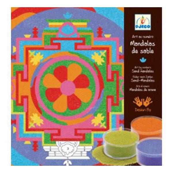 DJECO Песочные картинки - Тибетские мандалыКартины из песка<br>Увлекательный набор Тибетские мандалы DJECO (Джеко) для создания картинок с помощью цветного песка. В составе набора 5 картин с ярким необычным орнаментом. На картинки нанесены контуры рисунка с номерами, которым соответствует определенный цвет, на эти участки нужно насыпать цветной песок. В итоге получаются яркие, переливающиеся цветные картинки. <br><br>Дополнительная информация:<br><br>- В комплекте: 5 картинок-баз, 16 баночек с песком, инструкция.<br>- Материал: бумага, песок.<br>- Размер упаковки: 4 х 23,5 х 23 см.<br>- Вес: 0,735 кг.<br><br>Набор поможет развить у ребенка усидчивость, мелкую моторику и творческое мышление.<br><br>Набор Песочные картинки Тибетские мандалы DJECO (Джеко) можно купить в нашем магазине.<br>Ширина мм: 230; Глубина мм: 40; Высота мм: 235; Вес г: 500; Возраст от месяцев: 108; Возраст до месяцев: 180; Пол: Унисекс; Возраст: Детский; SKU: 2200021;