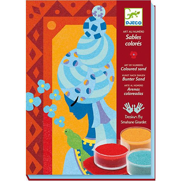 Песочная картинка Голубые принцессы DJECOКартины из песка<br>Раскраска DJECO (Джеко) Голубые принцессы - это прекрасный набор для создания картинок с помощью цветного песка. <br><br>Этот набор предназначен для создания красивых ярких картин, которыми дети будут гордиться и смогут повесить у себя в комнате. <br><br>Дополнительная информация:<br><br>-  4 листа с клейкой основой с узором для создания картинок<br>- 12 баночек с цветным песком<br>- пошаговая инструкция<br><br>Рисование песком - это игровое и художественное занятие, способствующее развитию чувства гармонии, ловкости рук и креативности.<br>Ширина мм: 230; Глубина мм: 40; Высота мм: 165; Вес г: 500; Возраст от месяцев: 72; Возраст до месяцев: 132; Пол: Женский; Возраст: Детский; SKU: 2200023;