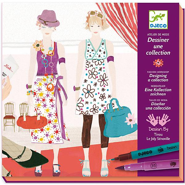 Большой набор-раскраска Дизайнер одеждыРаскраски по номерам<br>Раскраска Дизайнер одежды DJECO (Джеко) предоставляет широкое поле для творческой фантазии Вашей девочки. На картинках-фонах изображены модели для одежды, которые нужно одеть. Набор позволяет создавать уникальные наряды на любой вкус, можно комбинировать различные варианты одежды и тканей и дополнять их разнообразными аксессуарами. <br><br>Дополнительная информация:<br><br>- В комплекте: 32 листа фона, 7 листов с одеждой, 2 листа с образцами ткани, 2 - с аксессуарами и 8 двухсторонних фломастеров<br>- Материал: бумага, пластик.<br>- Размер упаковки: 4 х 23 х 23,5 см.<br>- Вес: 0,642 кг.<br><br>Раскраска Дизайнер одежды DJECO (Джеко) можно купить в нашем магазине.<br><br>Ширина мм: 230<br>Глубина мм: 40<br>Высота мм: 235<br>Вес г: 500<br>Возраст от месяцев: 108<br>Возраст до месяцев: 156<br>Пол: Женский<br>Возраст: Детский<br>SKU: 2200027