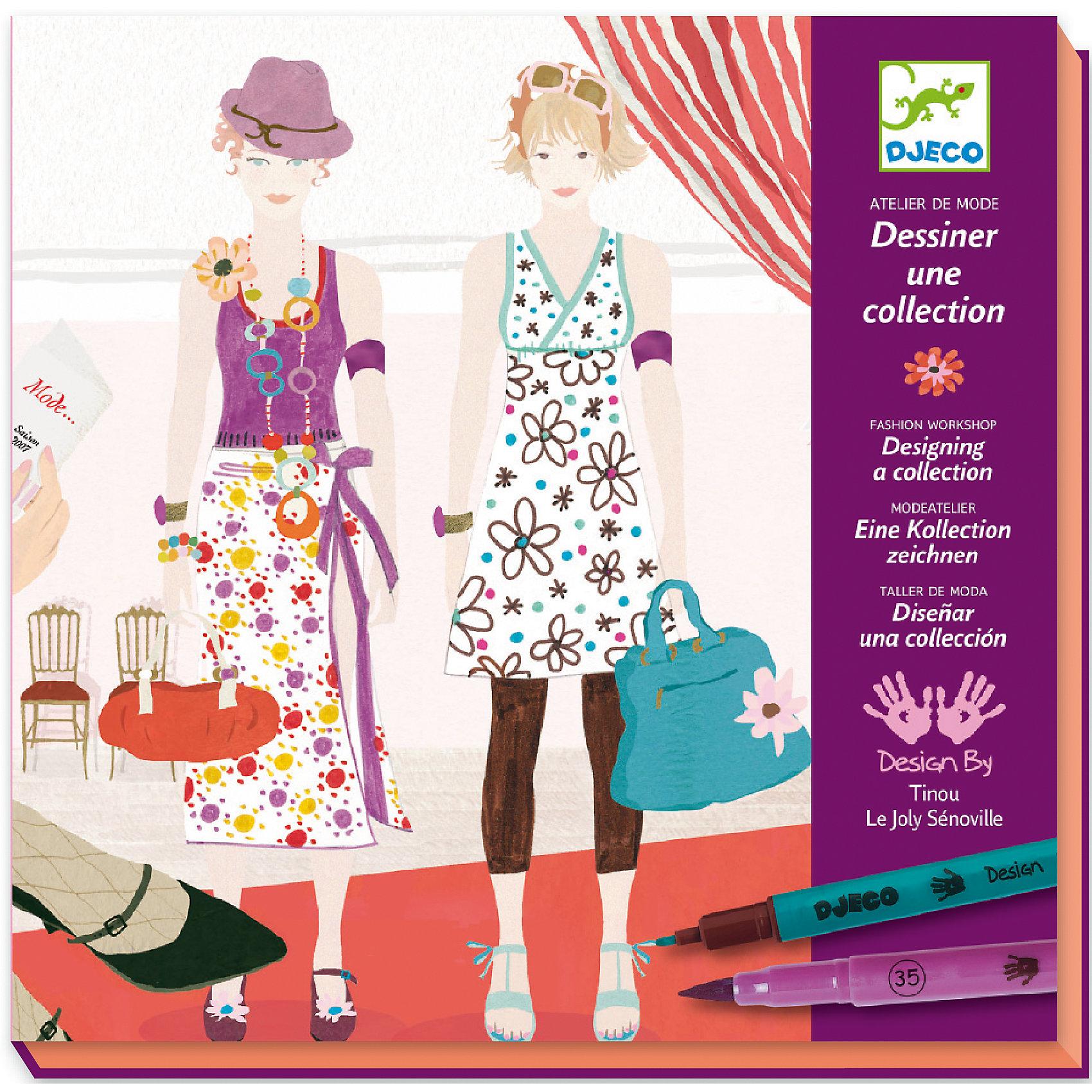 Большой набор-раскраска Дизайнер одеждыРаскраска Дизайнер одежды DJECO (Джеко) предоставляет широкое поле для творческой фантазии Вашей девочки. На картинках-фонах изображены модели для одежды, которые нужно одеть. Набор позволяет создавать уникальные наряды на любой вкус, можно комбинировать различные варианты одежды и тканей и дополнять их разнообразными аксессуарами. <br><br>Дополнительная информация:<br><br>- В комплекте: 32 листа фона, 7 листов с одеждой, 2 листа с образцами ткани, 2 - с аксессуарами и 8 двухсторонних фломастеров<br>- Материал: бумага, пластик.<br>- Размер упаковки: 4 х 23 х 23,5 см.<br>- Вес: 0,642 кг.<br><br>Раскраска Дизайнер одежды DJECO (Джеко) можно купить в нашем магазине.<br><br>Ширина мм: 230<br>Глубина мм: 40<br>Высота мм: 235<br>Вес г: 500<br>Возраст от месяцев: 108<br>Возраст до месяцев: 156<br>Пол: Женский<br>Возраст: Детский<br>SKU: 2200027