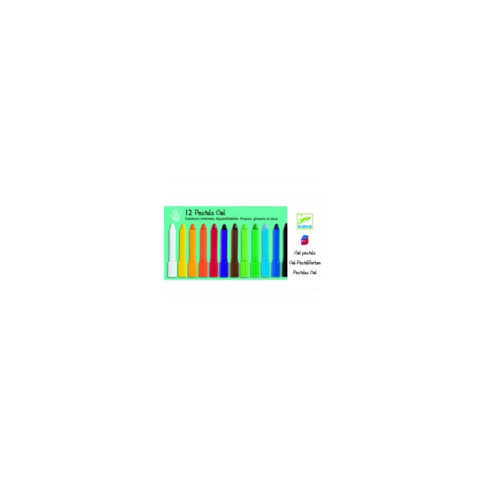 DJECO Набор гелевых фломастеров, 12 штукВ комплекте фломастеров DJECO (Джеко) 12 пластиковых футляров с гелиевой пастелью разных ярких цветов. Фломастеры очень мягкие и удобные легко скользят по бумаге и легко выкручиваются из футляров.<br><br>Дополнительная информация:<br><br>- Материал футляров: пластмасса. <br>- Размер упаковки: 11 x 24 x 2 см.<br>- Вес: 0,3 кг.<br><br>Рисование фломастерами поможет развить цветовосприятие, мелкую моторику и воображение.<br><br>Набор гелевых фломастеров DJECO (Джеко) можно купить в нашем магазине.<br><br>Ширина мм: 115<br>Глубина мм: 22<br>Высота мм: 250<br>Вес г: 200<br>Возраст от месяцев: 24<br>Возраст до месяцев: 60<br>Пол: Унисекс<br>Возраст: Детский<br>SKU: 2200031