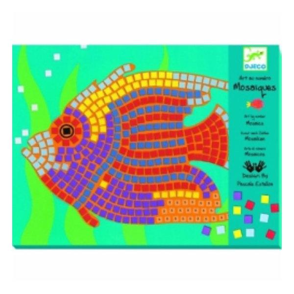 Мозаика Рыбы, DJECOМозаика детская<br>Никогда еще мозаика не была такой легкой! Достаточно просто наклеить цветные квадратики вместо цифр, и ваш шедевр уже готов! При этом ребенок может самостоятельно выбрать тот или иной цвет, или же придумать свою цветовую гамму.Набор состоит из двух шаблонов и восьми мягкихразноцветных листов с наклеивающимися квадратиками, имитирующими смальту. Для детей 6-12 лет.<br><br>Мозаику Рыбы, DJECO (Джеко) можно купить в нашем магазине.<br><br>Ширина мм: 212<br>Глубина мм: 12<br>Высота мм: 282<br>Вес г: 350<br>Возраст от месяцев: 72<br>Возраст до месяцев: 144<br>Пол: Унисекс<br>Возраст: Детский<br>SKU: 2200036