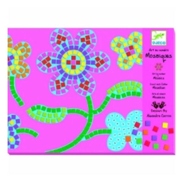 Мозаика Цветы, DJECOМозаика детская<br>Увлекательный набор Цветы DJECO (Джеко) познакомит ребенка с искусством мозаики. С помощью необходимых деталей можно создать две красочные картинки-мозаики с изображениями цветов. Изготовить мозаику несложно – надо на контур в соответствии с цифрами наклеить цветные квадратики, имитирующие кусочки смальты. Цветовую гамму ребенок может выбрать самостоятельно, согласно своей творческой фантазии.<br><br>Дополнительная информация:<br><br>- В комплекте: 2 картинки-базы, 8 листов с мягкими наклейками, подробная инструкция.<br>- Материал: картон.<br>- Размер упаковки: 1,2 х 21,2 х 28,1см.<br>- Вес: 0,194 кг. <br><br>Пазл Цветы DJECO (Джеко) можно купить в нашем магазине.<br><br>Ширина мм: 212<br>Глубина мм: 12<br>Высота мм: 282<br>Вес г: 350<br>Возраст от месяцев: 72<br>Возраст до месяцев: 144<br>Пол: Женский<br>Возраст: Детский<br>SKU: 2200037