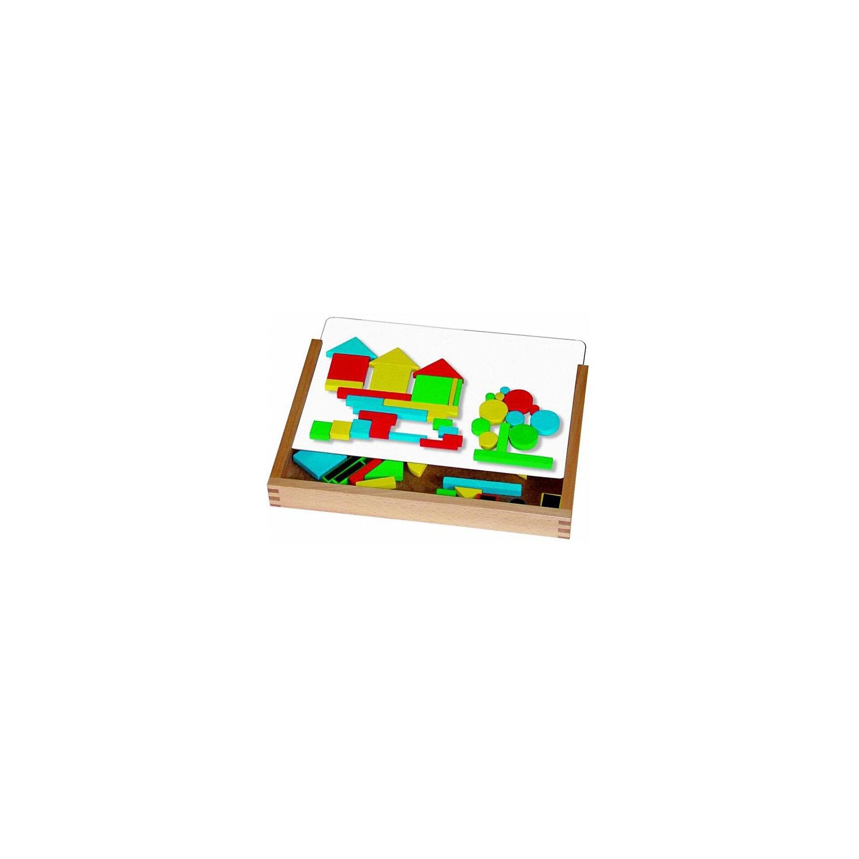 Магнитная игра с полем и  геометрическими фигурами, Magnetspiele