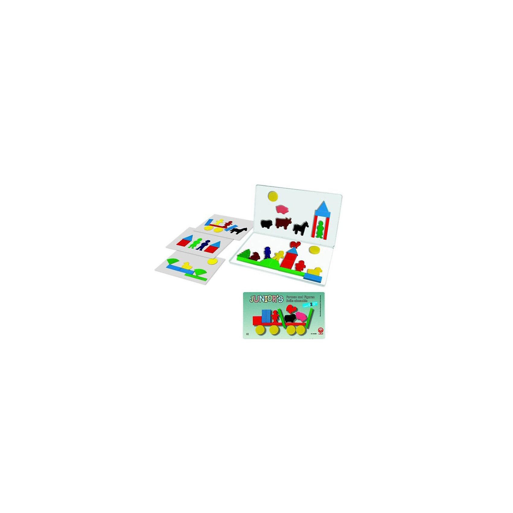 Магнетбокс Юниор Формы и фигуры, MagnetspieleДанный набор не только знакомит ребенка с геометрическими формами, но и тренирует абстрактное мышление. С помощью этих фигурок можно так же строить домики, создать свою ферму и играть в ролевые игры. Магнитная доска в комплекте. Все элементы выполнены из экологически чистого материала<br><br>Ширина мм: 325<br>Глубина мм: 190<br>Высота мм: 15<br>Вес г: 570<br>Возраст от месяцев: 24<br>Возраст до месяцев: 48<br>Пол: Унисекс<br>Возраст: Детский<br>SKU: 2200295