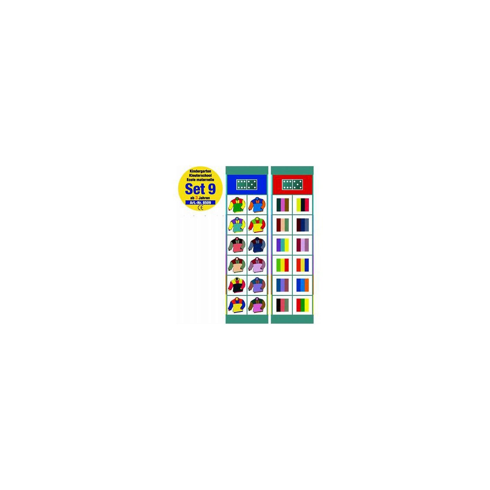 Flocards Набор заданий 9  Детский садОбучающая игра Флокардс с помощью игровой формы развивает у ребенка способность запонимания, концентрации и логического мышления. Использование и оформление магнитов и возможность самостоятельной проверки решений заданий пробуждает при этом особый интерес у ребенка. В набор входит 12 заданий для малышей от 3 лет на изучение цветов, развитие логики.<br><br>Карточки с заданиями:<br>1. Найди бабочку такого же цвета<br>2. Найди одинаковую пару медведей.<br>3. Найди строительный кран в таком же положении.<br>4. Найди одинаковый цветок<br>5. Какому животному соответствует контур?<br>6. Что продал булочник?<br>7. Что продал мясник?<br>8. 2 кирпичика <br>9. Танцующие гномы<br>10. Что соответствует друг другу?<br>11. Свитера 3 цветов<br>12. 3 простых головоломки.<br><br>Ширина мм: 300<br>Глубина мм: 8<br>Высота мм: 105<br>Вес г: 200<br>Возраст от месяцев: 36<br>Возраст до месяцев: 84<br>Пол: Унисекс<br>Возраст: Детский<br>SKU: 2200308