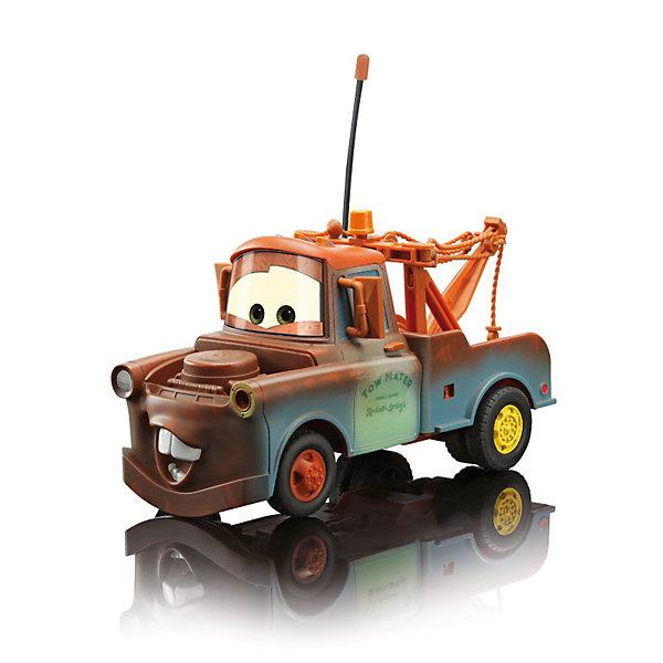 Машинка Mater на р/у, Тачки, 19 смИдеи подарков<br>Машинка Mater Dickie на радиоуправлении порадует всех юных поклонников  мультсериала Тачки (Cars). Мэтр (Mater) - один из главных персонажей мультфильма, веселый грузовик-эвакуатор, который помогает выбраться машинам из ям и канав. Внешний вид машинки полностью соответствует своему мультперсонажу. <br><br>С помощью пульта управления машинка может выполнять различные маневры: постепенно набирать скорость, двигаться вперед-назад, влево-вправо. Пульт и сама машинка оснащены антеннами с пластмассовыми наконечниками. Частота 27+40 МГц. Колеса широкие, прорезиненные.<br><br>Дополнительная информация:<br><br>- Масштаб: 1:24.<br>- Материал: пластмасса.<br>- Требуются батарейки: в пульт - 3х1,5V LR03(AAA), в машинку - 3х1,5V LR6(AA) (в комплект не входят).<br>- Размер игрушки: 19 см.<br>- Размер упаковки: 30,3 х 15,3 х 14,9 см.<br>- Вес: 0,727 кг.<br><br>Машинку на радиоуправлении Mater Dickie можно купить в нашем интернет-магазине.<br>Ширина мм: 315; Глубина мм: 154; Высота мм: 154; Вес г: 701; Возраст от месяцев: 72; Возраст до месяцев: 120; Пол: Мужской; Возраст: Детский; SKU: 2200376;