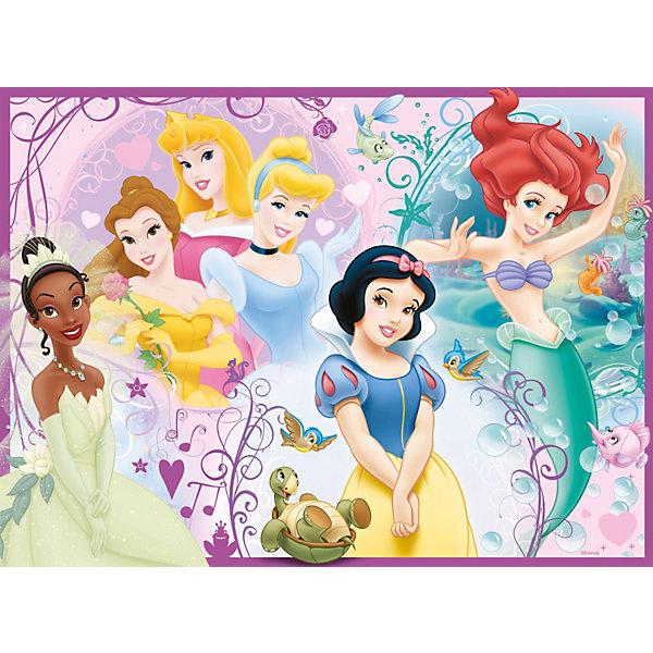 Ravensburger Пазл Дисней: принцессы, 100 деталейПазлы для малышей<br>Красочный пазл со сказочными принцессами принесет массу радости маленьким красавицам. Этот пазл будет не сложно собрать не только взрослому, но и ребенку! Настоящее немецкое качество!<br><br>Размер собранной картинки: 49х36 см.<br>Ширина мм: 40; Глубина мм: 230; Высота мм: 340; Вес г: 535; Возраст от месяцев: 72; Возраст до месяцев: 2147483647; Пол: Женский; Возраст: Детский; SKU: 2206788;