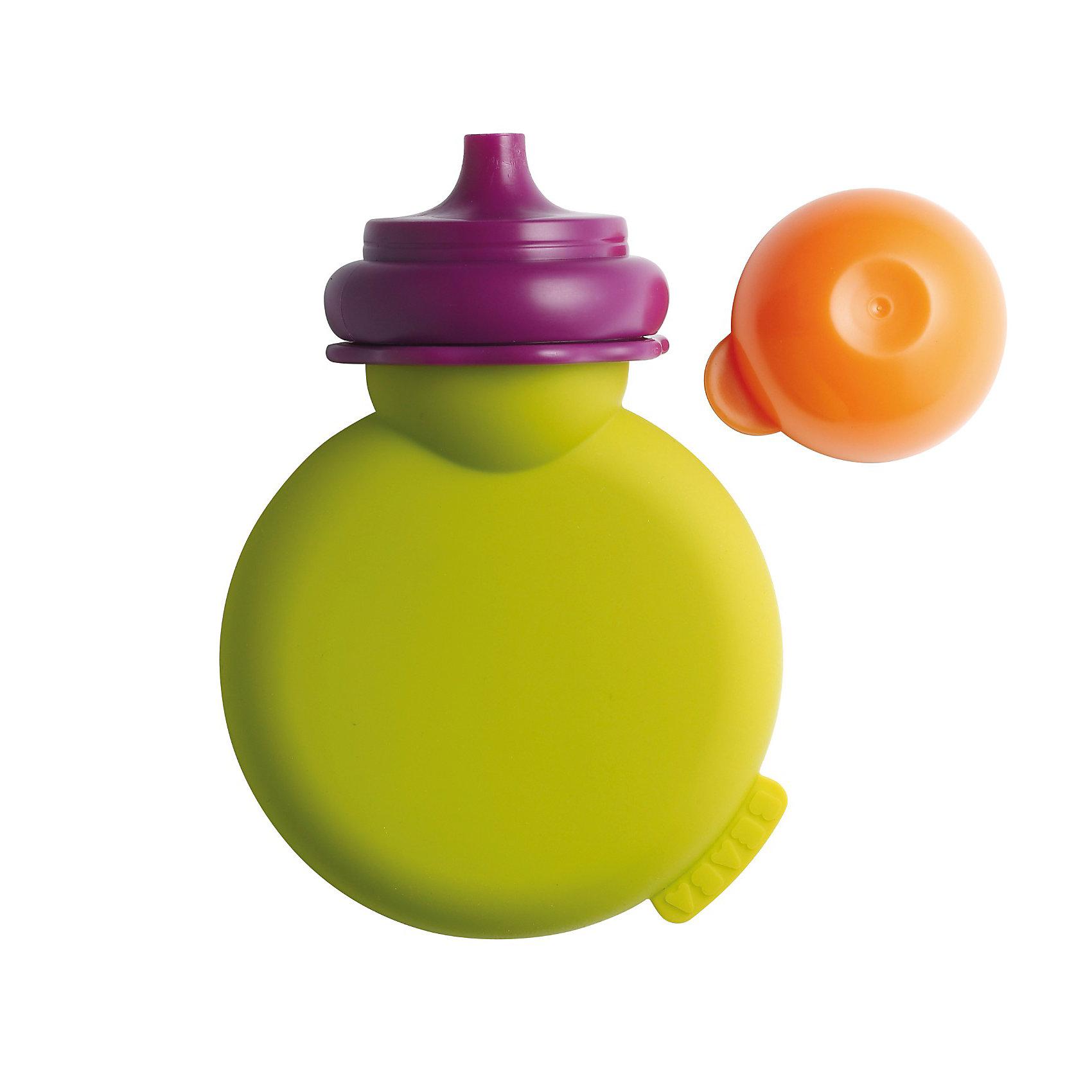 Контейнер для пюре из силикона Babypote, Beaba, зеленый