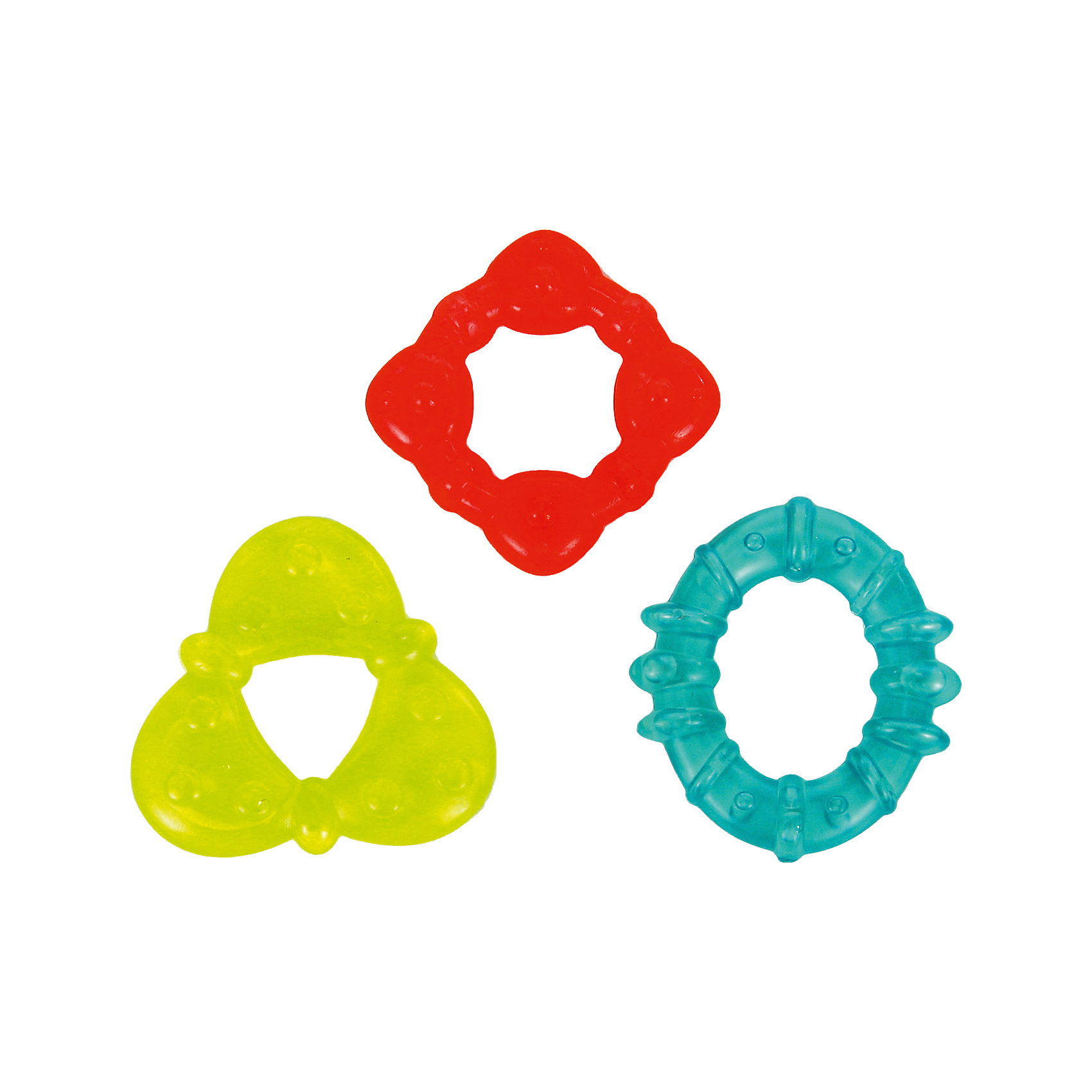Набор прорезывателей Холодок Bright StartsПрорезыватели<br>Мягкие прорезыватели помогут успокоиться ребёнку, когда у него появляются зубки!<br><br>ОСОБЕННОСТИ<br>Мягкие прорезыватели для зубок наполненные водой<br>Яркие цвета и разные текстуры<br>Форма, которую легко хватать маленькими ручками<br><br>Дополнительные характеристики<br>  в наборе 3 шт.<br>  размеры товара: 7,5 * 4 * 7,5 см<br>  размеры коробки: 14 * 4 * 19 см<br><br>Набор прорезывателей Холодок Bright Starts (Брайт Стартс) можно купить в нашем интернет-магазине.<br><br>Ширина мм: 193<br>Глубина мм: 144<br>Высота мм: 22<br>Вес г: 102<br>Возраст от месяцев: 3<br>Возраст до месяцев: 12<br>Пол: Унисекс<br>Возраст: Детский<br>SKU: 2225520