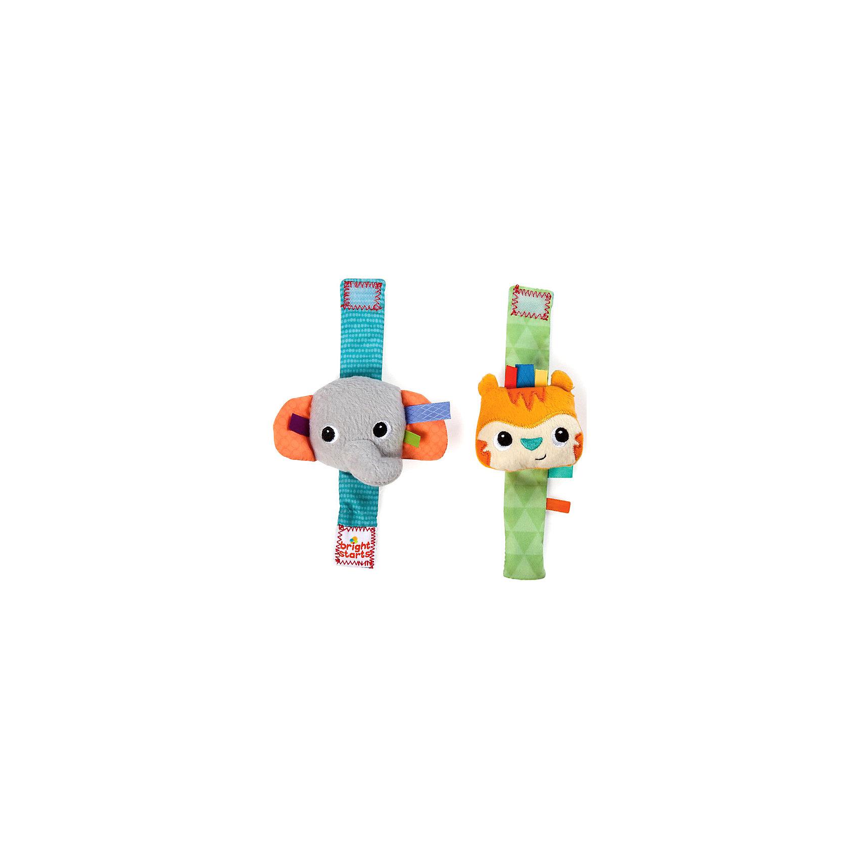 Игрушки-погремушки на ручку Стильная пара браслетиков Bright StartsПогремушки<br>Новые игрушки-погремушки на ручку «Стильная пара браслетиков» от Bright Starts (Брайт Стартс) сделают любого ребенка не только стильным, но и заметно поднимут ему настроение. Игрушки-погремушки предназначены для детей возрастом от 0 до 1 года.<br><br>Стильные браслеты являются одновременно погремушкой, с которой малыш может не расставаться долгое время.  Специальные хрустящие элементы игрушки-погремушки привлекут внимание любого ребенка и поднимут ему настроение. Удобная форма браслета позволяет надежно прикрепить его к руке, не причиняя дополнительных неудобств малышу. В браслете используются элементы различной текстуры, благодаря чему ребенку будет очень интересно играть с данной игрушкой-браслетом. <br><br>Удобные и компактные размеры браслета позволят одеть его на любого ребенка. Игрушка-погремушка станет великолепным развлечением для любого малыша. <br><br>Особенности:<br><br>- Хрустящие элементы<br>- Погремушки в виде браслетиков<br>- Надежно крепятся к детской ручке, не причиняя неудобства<br>- Используются материалы разной текстуры<br><br>Милые игрушки в удобной форме для развития малыша!<br><br>Дополнительная информация:<br><br>Размеры товара: каждый браслетик - 6 * 2 * 17 см<br>Размеры коробки: 9 * 4 * 19 см<br><br>Игрушки-погремушки на ручку Стильная пара браслетиков Bright Starts (Брайт Стартс) можно купить в нашем интернет-магазине.<br><br>Ширина мм: 140<br>Глубина мм: 190<br>Высота мм: 20<br>Вес г: 40<br>Возраст от месяцев: 0<br>Возраст до месяцев: 12<br>Пол: Унисекс<br>Возраст: Детский<br>SKU: 2225521