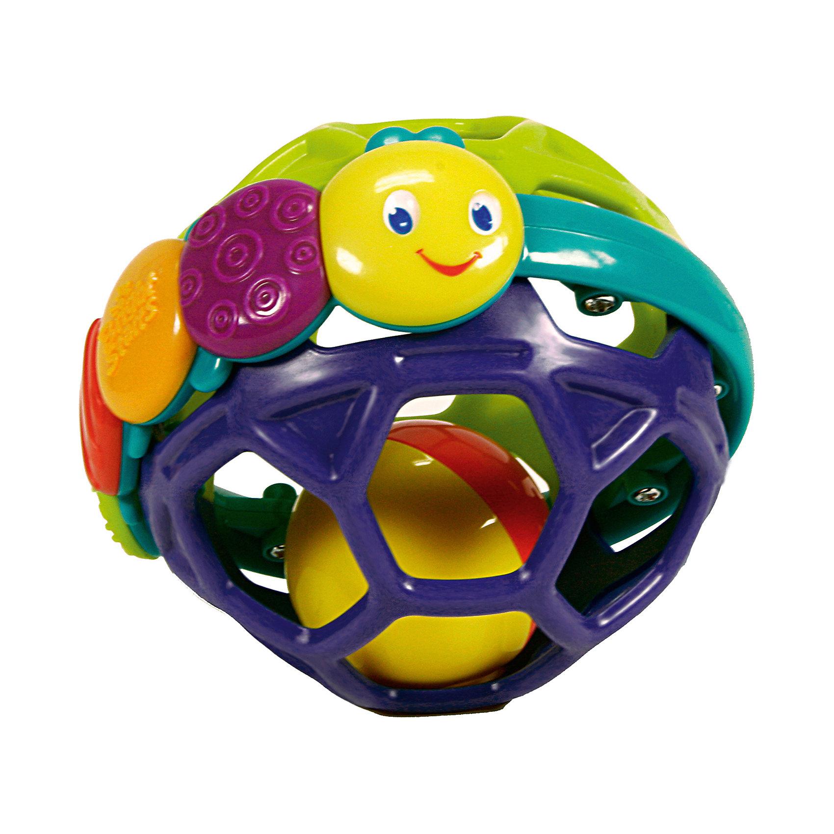 Развивающая игрушка Гибкий шарик, Bright StartsРазвивающие игрушки<br>Яркий разноцветный шарик, который легко хватать и катать!<br><br>Особенности<br><br>Шарик создан из мягкого и гибкого пластика, чтобы малыш мог сгибать и сжимать его<br>Разноцветная гусеница с разными текстурами развивает мелкую моторику<br>Перекатывающийся шарик-погремушка <br><br>Дополнительные характеристики<br><br>Размеры товара: 11 * 11 * 11 см<br>Размеры коробки: 14 * 11 * 19 см<br><br>Ширина мм: 143<br>Глубина мм: 107<br>Высота мм: 191<br>Вес г: 136<br>Возраст от месяцев: 3<br>Возраст до месяцев: 36<br>Пол: Унисекс<br>Возраст: Детский<br>SKU: 2225532