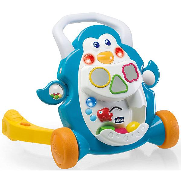 Игровой центр - ходунки Пингвин 2 в 1, ChiccoРазвивающие центры<br>Игровой центр - ходунки Пингвин 2 в 1, Chicco (Чико) поможет Вашему ребенку научиться самостоятельно ходить!  <br><br>Яркие ходунки-каталка в форму забавного пингвина помогают ребенку стоять и делать свои первые шаги в полной безопасности. Все, что ребенку нужно делать – это взяться за игрушку и начать двигаться. Игрушка сразу же начнет наигрывать веселую мелодию, которая прекратится, как только ребенок остановится, поощряя его сделать еще несколько шагов. Игрушка также является активным игровым центром с играми, огнями и забавными звуковыми эффектами. <br><br>Игрушка одновременно является развивающим центром, который включает в себя геометрические фигуры ярких цветов, звуковые и световые эффекты. Занятия с ходунками разовьют у малыша координацию движений, звуковое, тактильное восприятие, и мелкую моторику рук, а процесс обучения ходьбе и прогулки станут веселее и увлекательнее.<br><br>Игровой центр - ходунки Пингвин 2 в 1, Chicco можно купить в нашем интернет-магазине.<br><br>Дополнительная информация:<br>- Размер: 40,5 x 15,5 x 49,3 см.<br>- Вес: 1,8 кг.   <br>- Батарейки: 2 х АА 1,5 В (не входят в комплект)<br><br>Ширина мм: 400<br>Глубина мм: 485<br>Высота мм: 165<br>Вес г: 2700<br>Возраст от месяцев: 9<br>Возраст до месяцев: 36<br>Пол: Унисекс<br>Возраст: Детский<br>SKU: 2231682