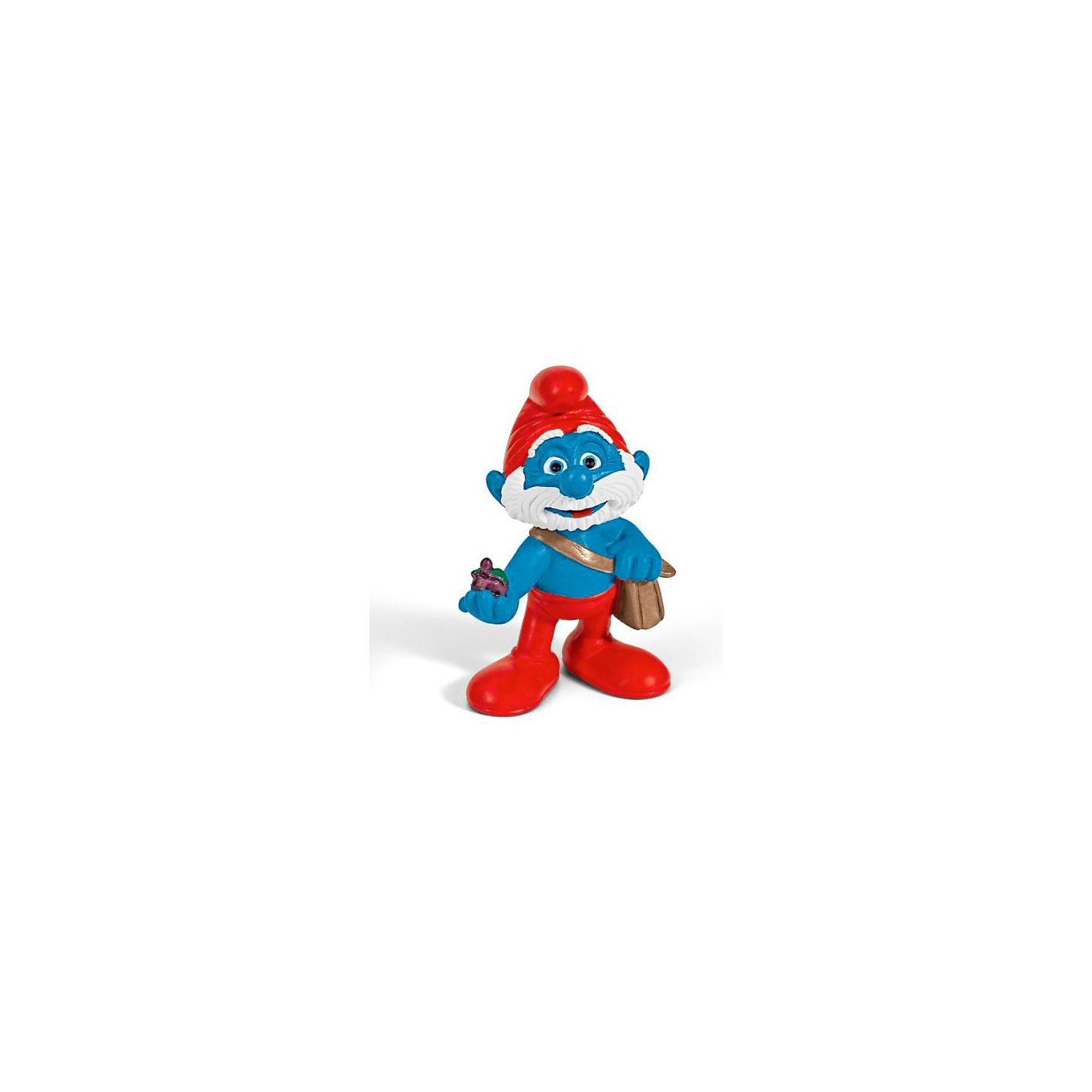 Фигурка Смурфики - Гномик Папа, 5,5 см, SchleichКоллекционные и игровые фигурки<br>Характеристики:<br><br>• материал: пластик каучуковый;<br>• серия: «Смурфы в 3D»;<br>• высота фигурки: 5,5 см;<br>• вес: 20 г;<br>• размеры: 6х3х4 см;<br><br>Гномик Папа, Schleich (Шляйх) – эта фигурка смурфа, выполненная по мотивам популярного мультфильма «Смурфы в 3D». <br><br>Игрушка выполнена в миниатюрном размере. Полностью соответствует облику экранного героя смурфу Папе: у него красные штанишки и красная шапка-колпачок на голове, а через плечо перекинута сумка.<br><br>Фигурки от Шляйх выполнены из экологически безопасного каучукового пластика, который устойчив к появлению царапин и сколов. Гномик раскрашен вручную, что обеспечивает высокую детализацию даже самых мелких деталей и элементов.<br><br>Гномика Папу, Schleich можно купить в нашем интернет-магазине.<br><br>Ширина мм: 92<br>Глубина мм: 76<br>Высота мм: 27<br>Вес г: 18<br>Возраст от месяцев: 36<br>Возраст до месяцев: 96<br>Пол: Унисекс<br>Возраст: Детский<br>SKU: 2232185