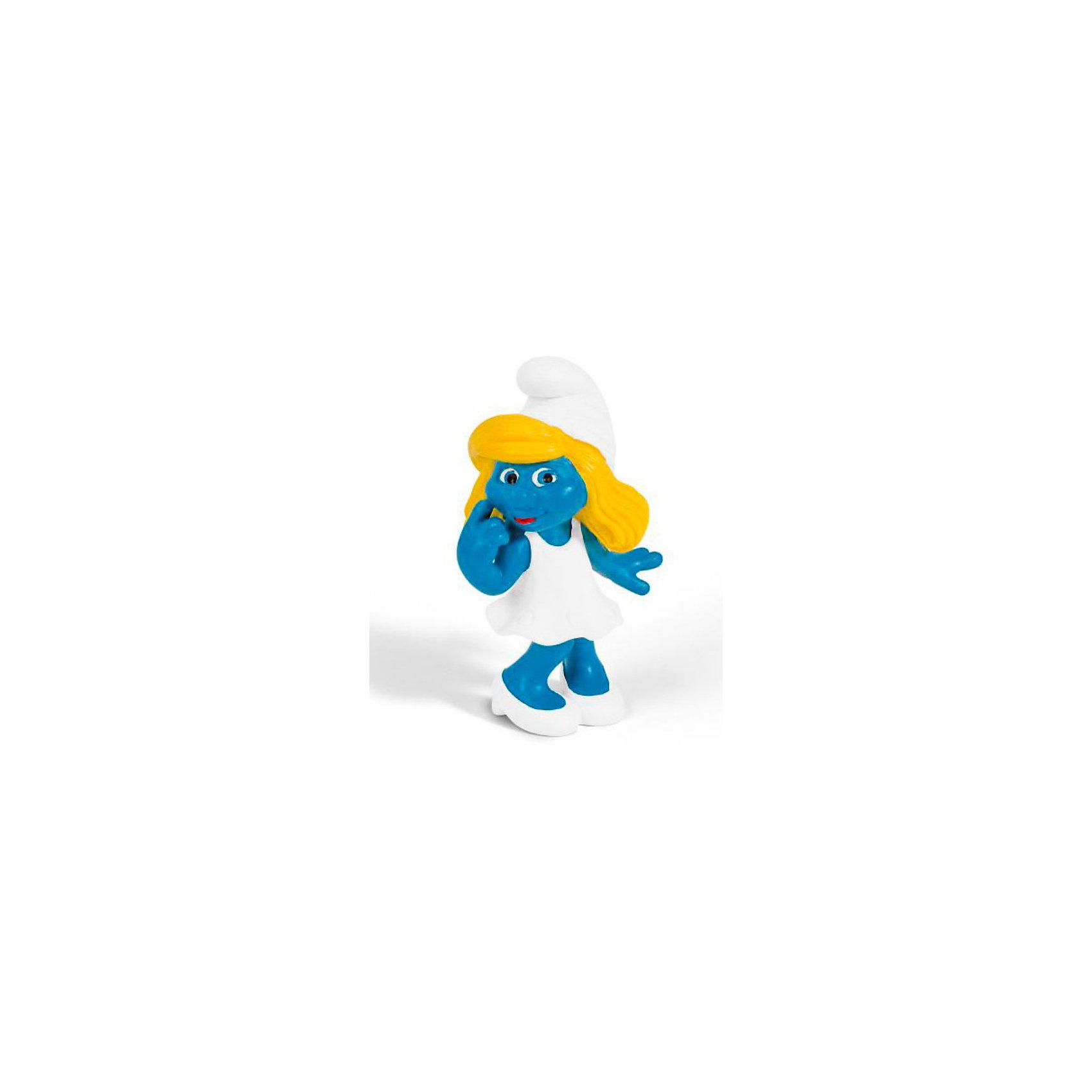 Фигурка Смурфики - Мечтающая Смурфетта, 5.5 см, SchleichФигурки из мультфильмов<br>Характеристики:<br><br>• материал: пластик каучуковый;<br>• серия: «Смурфы в 3D»;<br>• высота фигурки: 5,5 см;<br>• вес: 29 г;<br>• размеры: 4х3х5,5 см;<br>• особенности ухода: влажная чистка.<br><br>Гномик Девочка мечтающая, Schleich – эта фигурка смурфа, выполненная по мотивам популярного мультфильма «Смурфы в 3D». <br><br>Игрушка выполнена в миниатюрном размере. Полностью соответствует облику экранного прототипа: у Смурфетты белое платье и туфли, золотистые волосы покрывает белая шапка-колпачок.<br><br>Фигурки от Шляйх выполнены из экологически безопасного каучукового пластика, который устойчив к появлению царапин и сколов. Гномик раскрашен вручную, что обеспечивает высокую детализацию даже самых мелких деталей и элементов.<br><br>Гномика Девочку мечтающую, Schleich можно купить в нашем интернет-магазине.<br><br>Ширина мм: 133<br>Глубина мм: 32<br>Высота мм: 30<br>Вес г: 14<br>Возраст от месяцев: 36<br>Возраст до месяцев: 96<br>Пол: Унисекс<br>Возраст: Детский<br>SKU: 2232187