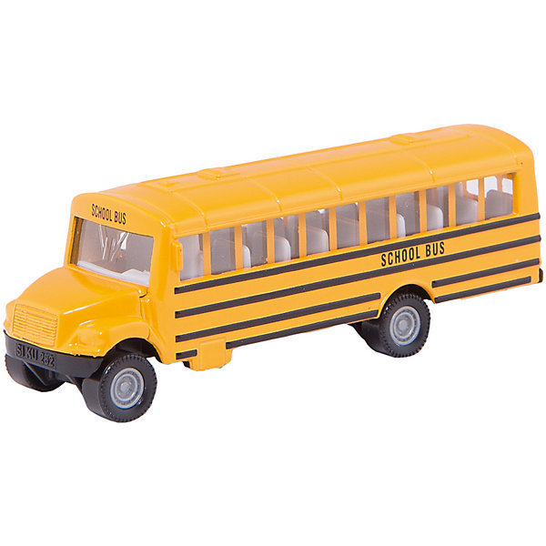 SIKU 1319 Школьный автобусМашинки<br>Школьный автобус, Siku, станет прекрасным пополнением коллекции юного любителя техники. Модель выполнена в масштабе 1:78 и отличается высокой степенью детализации и тщательной проработкой всех элементов. Автобус имеет характерный дизайн с расцветкой ярко-желтого цвета, через прозрачные пластиковые окна хорошо просматривается салон с пассажирскими сиденьями, колеса вращаются. Корпус модели выполнен из металла, остальные детали изготовлены из ударопрочной пластмассы. <br><br>Дополнительная информация:<br><br>- Материал: металл, пластик.<br>- Масштаб: 1:50.<br>- Размер: 8,5 х 2,4 х 2,8 см.<br>- Вес: 41 гр.<br><br> 1319 Школьный автобус, Siku, можно купить в нашем интернет-магазине.<br><br>Ширина мм: 95<br>Глубина мм: 78<br>Высота мм: 30<br>Вес г: 58<br>Возраст от месяцев: 36<br>Возраст до месяцев: 96<br>Пол: Мужской<br>Возраст: Детский<br>SKU: 2233626