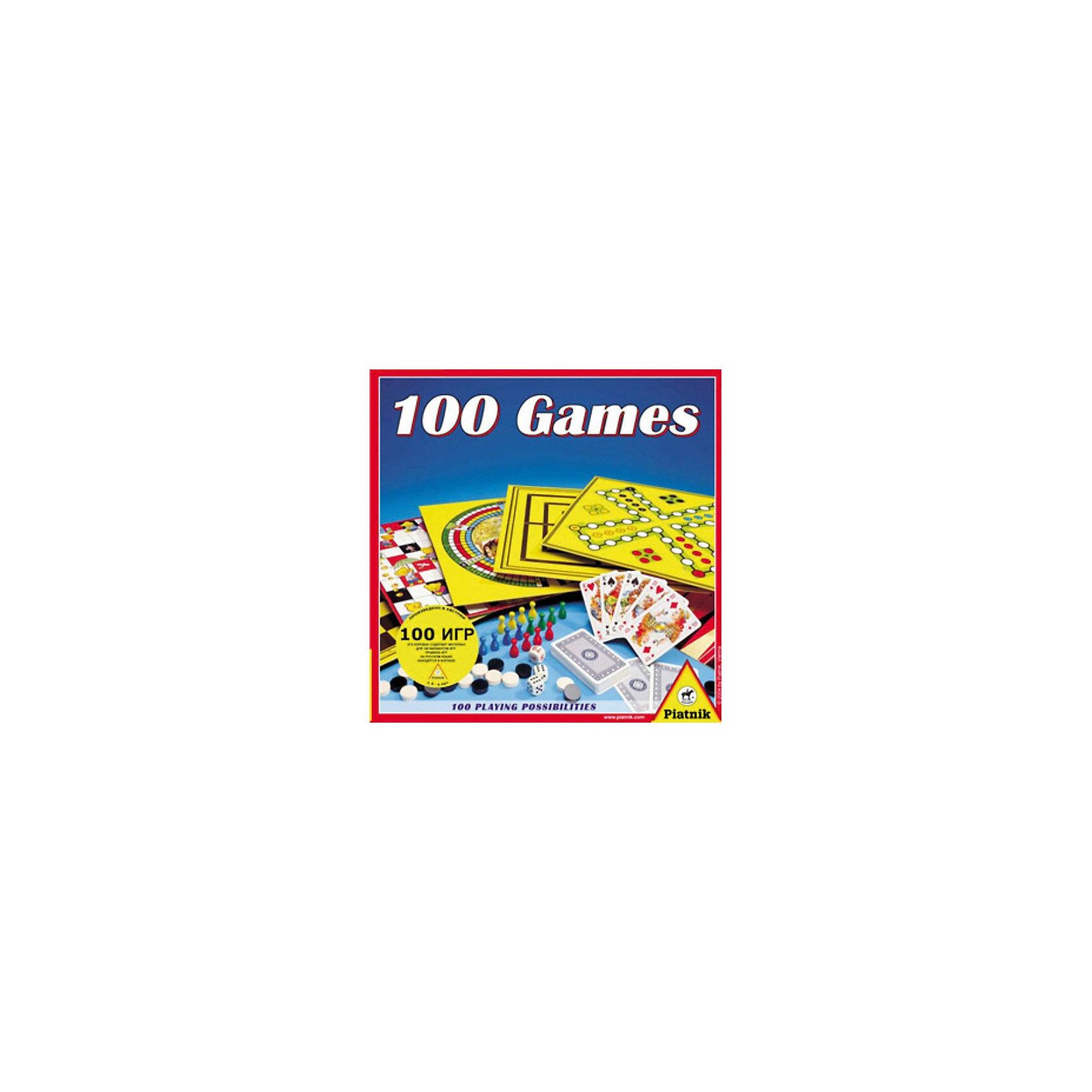Набор 100 игр, PiatnikВы хотели бы иметь дома не одну-две, а сразу сотню настольных игр?  Скорее всего, вы подумаете, что это было бы неплохо, но  во сколько может обойтись подобная покупка? А как насчет возможности получить все сто настольных игр по цене одной? Согласитесь, что подобное предложение звучит заманчиво, однако остается нерешенным еще один вопрос - где потом хранить сотню картонных коробок с играми?  Не выделять же для этого целый шкаф. С развлекательным набором «100 игр» от компании Piatnik этого делать не придётся. В одной упаковке вы найдёте  целых сто разных игр: шашки, шахматы, «Лестница», «Мельница», «Скачки», «Backgammon»,  «Oh Pardon» и множество других увлекательных игр уместились в одной небольшой картонной коробке. Ваша семья и друзья наверняка оценят  возможность столь широкого выбора, который позволит каждому найти занятие по душе.<br><br>Ширина мм: 295<br>Глубина мм: 295<br>Высота мм: 70<br>Вес г: 680<br>Возраст от месяцев: 72<br>Возраст до месяцев: 1188<br>Пол: Унисекс<br>Возраст: Детский<br>SKU: 2237182