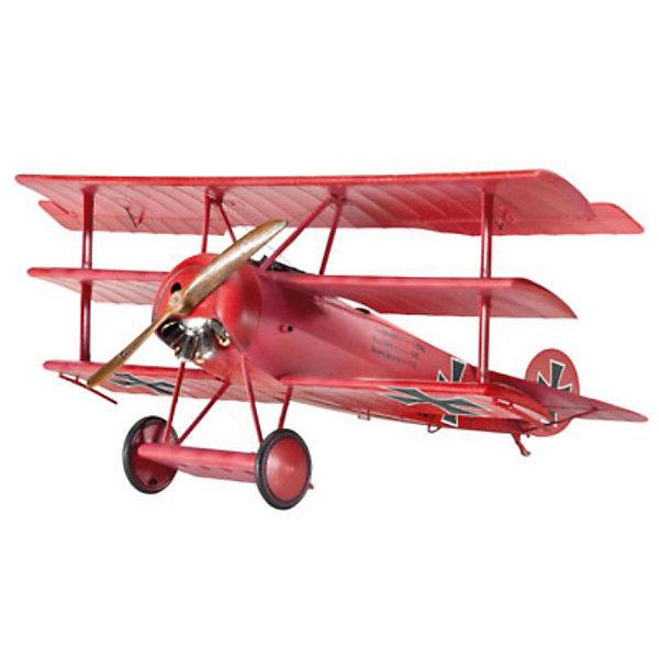 Набор Самолет Триплан Истребитель Fokker Dr. I, 1-ая МВ, немецкийСамолёты и вертолёты<br>Характеристики товара:<br><br>• возраст: от 10 лет;<br>• масштаб: 1:48;<br>• количество деталей: 77 шт;<br>• материал: пластик; <br>• клей и краски в комплект не входят;<br>• длина модели: 12 см;<br>• размах крыльев: 15,2 см;<br>• бренд, страна бренда: Revell (Ревел), Германия;<br>• страна-изготовитель: Польша.<br><br>Набор для сборки «Самолет Триплан Истребитель Fokker Dr. I» поможет вам и вашему ребенку придумать увлекательное занятие на долгое время и весело провести свой досуг. <br><br>Данная сборная модель военного самолета состоит из 77 деталей и относится к третьему уровню сложности сборки из пяти существующих. В комплект набора также включены необходимые для осуществления сборки клей, кисточка и краски 3-ех цветов. В упаковку вложена подробная инструкция.<br><br>Процесс сборки развивает интеллектуальные и инструментальные способности, воображение и конструктивное мышление, а также прививает практические навыки работы со схемами и чертежами.<br><br>Набор для сборки «Самолет Триплан Истребитель Fokker Dr. I», 77 дет., Revell (Ревел) можно купить в нашем интернет-магазине.<br>Ширина мм: 350; Глубина мм: 340; Высота мм: 70; Вес г: 435; Возраст от месяцев: 144; Возраст до месяцев: 1188; Пол: Мужской; Возраст: Детский; SKU: 2237683;