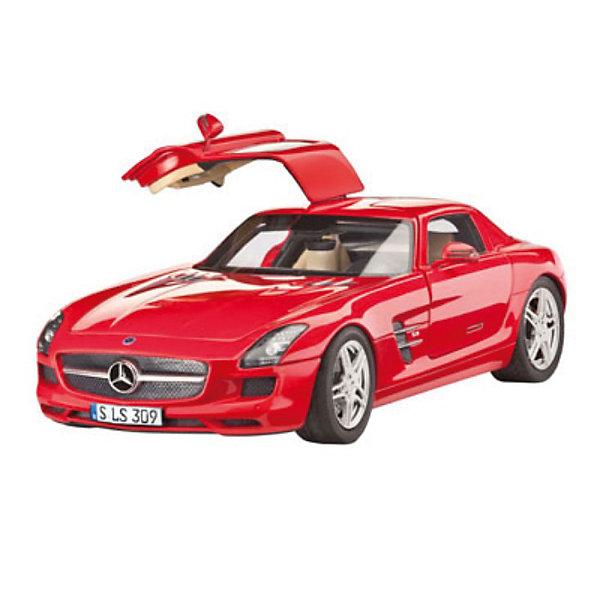 Набор Автомобиль Mercedes SLS AMGМодели для склеивания<br>Характеристики товара:<br><br>• возраст: от 10 лет;<br>• масштаб: 1:24;<br>• количество деталей: 141 шт;<br>• материал: пластик; <br>• клей и краски в комплект не входят;<br>• длина модели: 19,3 см;<br>• бренд, страна бренда: Revell (Ревел),Германия;<br>• страна-изготовитель: Германия.<br><br>Набор для склеивания «Автомобиль Mercedes SLS AMG» поможет вам и вашему ребенку придумать увлекательное занятие на долгое время и получить хорошую игрушку.<br><br>Набор включает в себя 141 пластиковый элемент, клей, кисточки и краски  из которых можно собрать и разукрасить невероятно реалистичную машинку. В комплект также входит схематичная инструкция. Собранный автомобиль имеет прекрасно проработанный салон и детализацию.<br><br>Процесс сборки развивает интеллектуальные и инструментальные способности, воображение и конструктивное мышление, а также прививает практические навыки работы со схемами и чертежами. <br><br>Набор для склеивания «Автомобиль Mercedes SLS AMG», 141 дет., Revell (Ревел) можно купить в нашем интернет-магазине.<br><br>Ширина мм: 68<br>Глубина мм: 340<br>Высота мм: 370<br>Вес г: 630<br>Возраст от месяцев: 144<br>Возраст до месяцев: 1188<br>Пол: Мужской<br>Возраст: Детский<br>SKU: 2237689