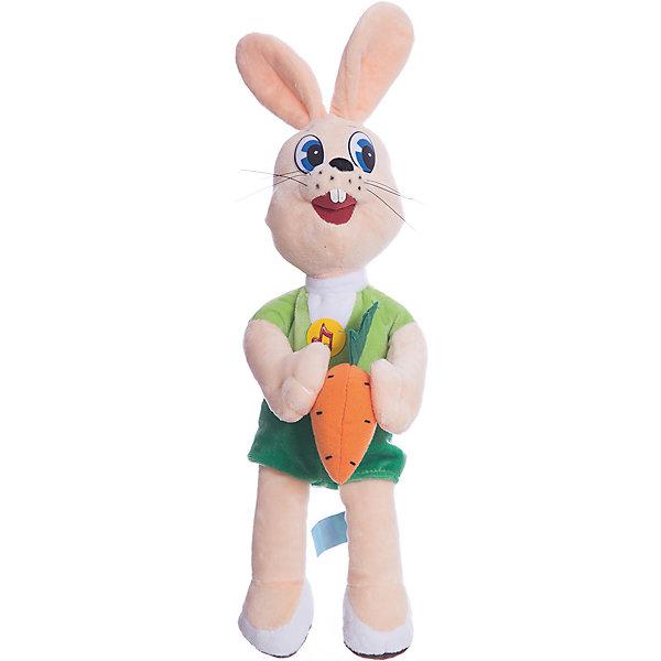 Мягкая игрушка Заяц с морковкой, МУЛЬТИ-ПУЛЬТИСоветские мультфильмы<br>В коллекции мягких игрушек Мульти-Пульти представлены все известные персонажи детских мультфильмов и сказок и, конечно же, не обошлось без персонажей знаменитого мультика Ну, Погоди!. Ребенок с радостью узнает веселого серого зайчика из знакомого мультика, игрушка очень похожа на свой мультперсонаж и держит в лапке морковку. Зайчик оснащен электронно-звуковым чипом, на который записаны 8 фраз из мультфильма и мелодия Ну, Погоди!<br><br>Дополнительная информация:<br><br>- Материал: плюш, синтепон.<br>- Требуются батарейки: 3 * LR44 (входят в комплект).<br>- Размер игрушки: 33 см.<br><br>Мягкую игрушку Зайчик с морковкой из Ну, Погоди! можно приобрести в нашем интернет-магазине.<br><br>Ширина мм: 15<br>Глубина мм: 37<br>Высота мм: 23<br>Вес г: 280<br>Возраст от месяцев: 36<br>Возраст до месяцев: 1188<br>Пол: Унисекс<br>Возраст: Детский<br>SKU: 2240376