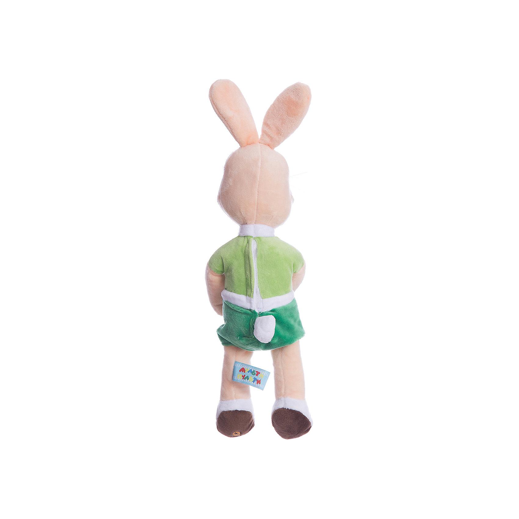 Мягкая игрушка Заяц с морковкой, МУЛЬТИ-ПУЛЬТИ от myToys