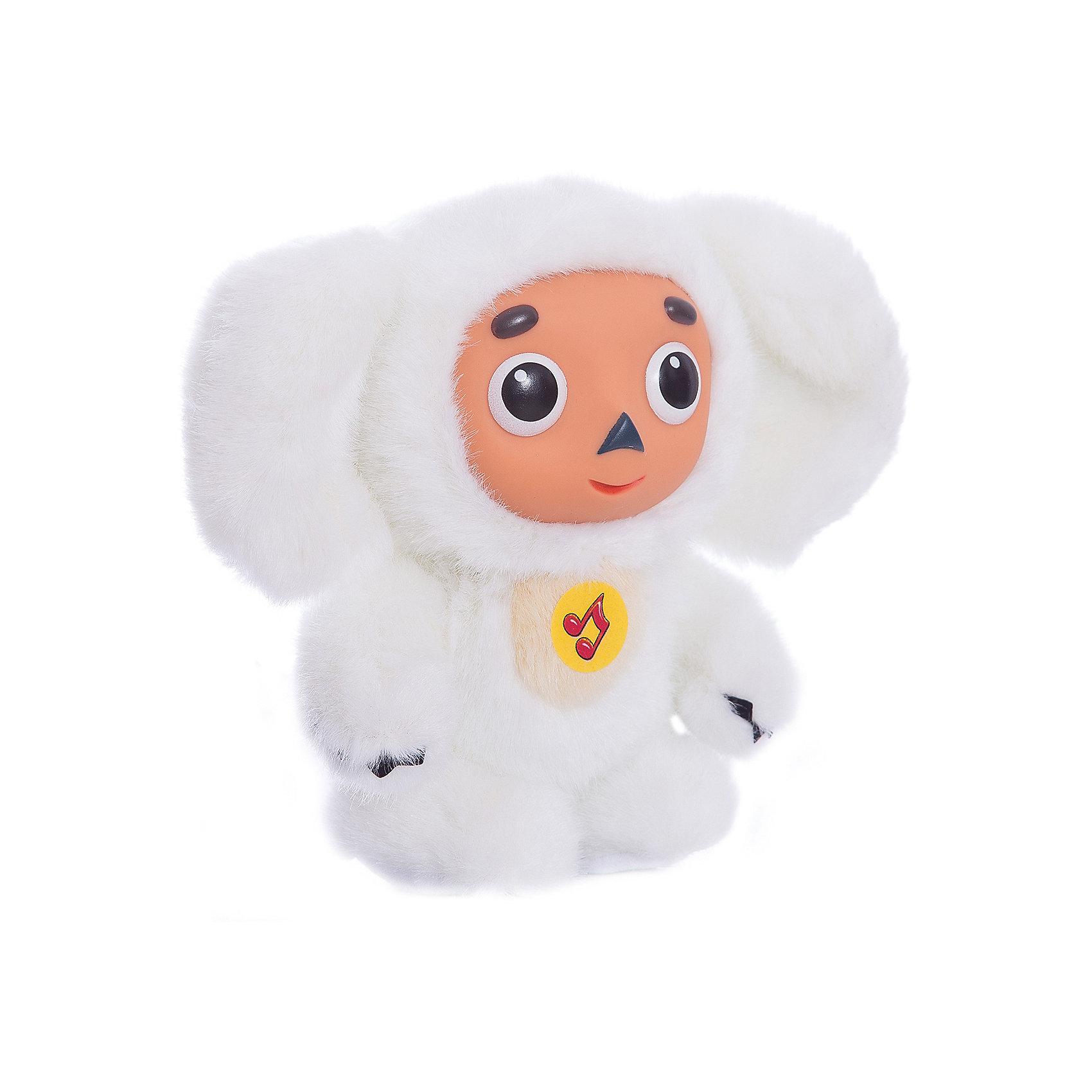 МУЛЬТИ-ПУЛЬТИ Мягкая игрушка Чебурашка с белым мехом, МУЛЬТИ-ПУЛЬТИ мульти пульти мягкая игрушка эдди 18 см со звуком пингвиненок пороро мульти пульти