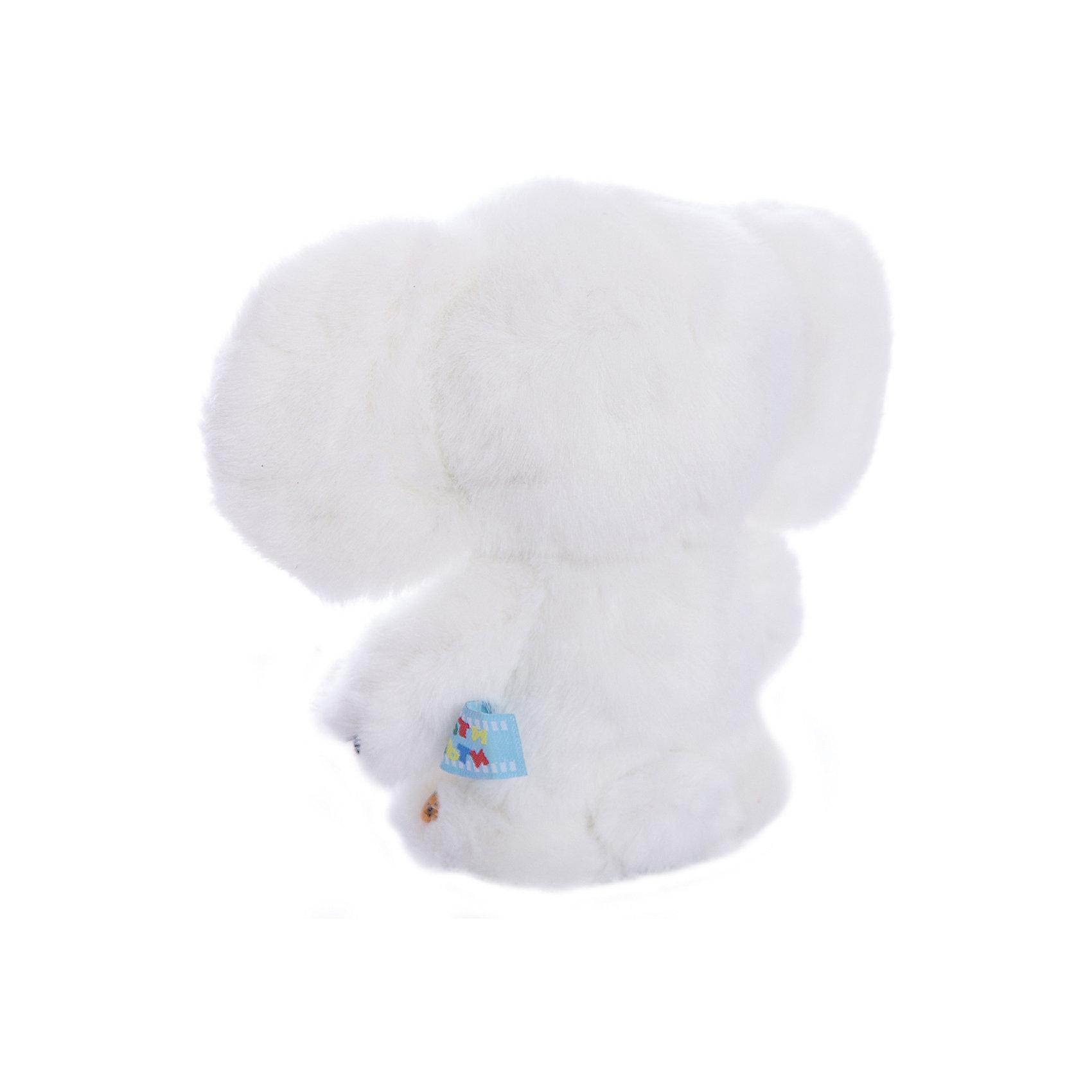 Мягкая игрушка Чебурашка с белым мехом, МУЛЬТИ-ПУЛЬТИ от myToys