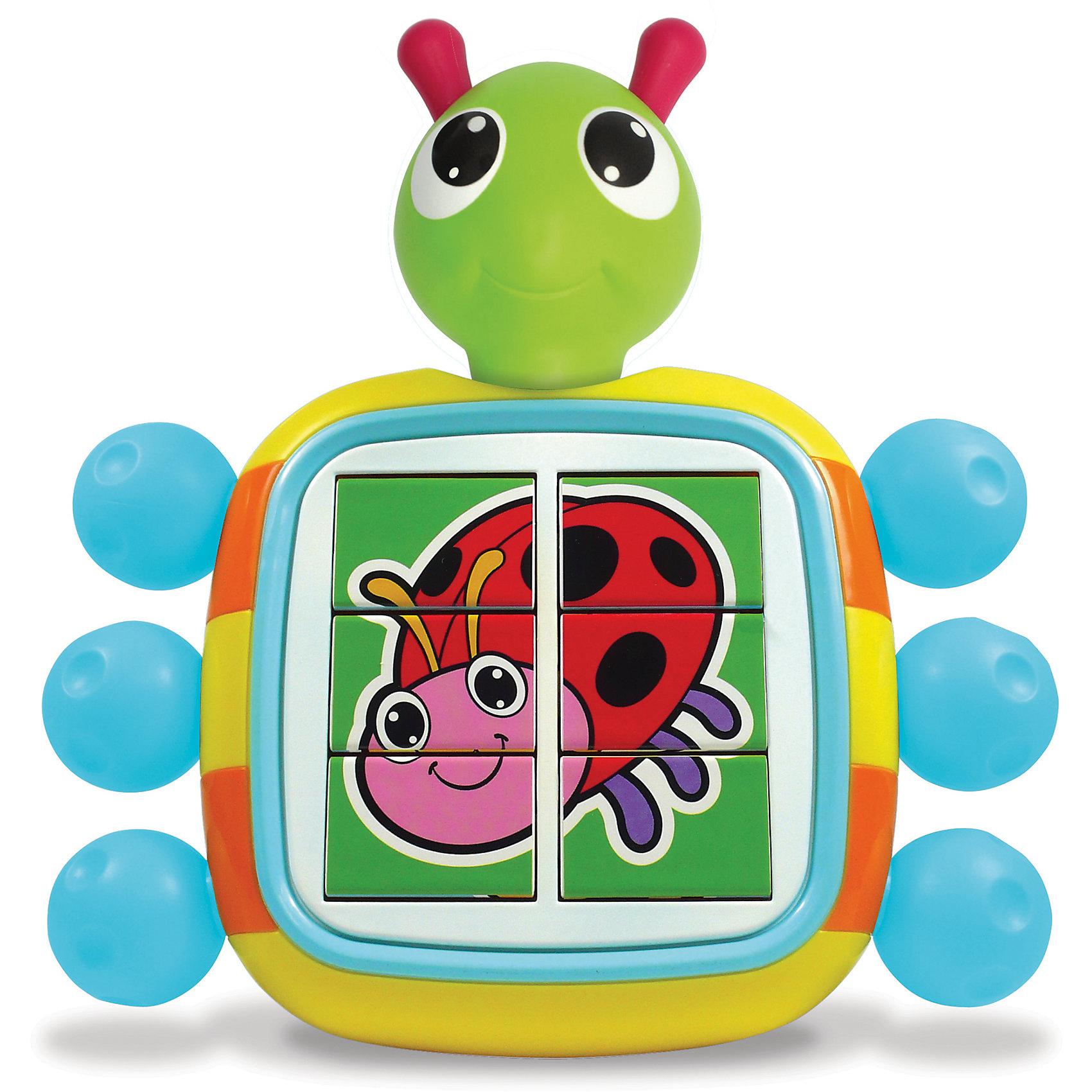 Игрушка Веселый Жук-Головоломка, TOMYЭта звуковая развивающая игрушка обязательно понравится вашему малышу. Поворачивая каждую лапку жука можно собрать одну из картинок : бабочку, пчелку или божью коровку при этом жук издает веселые звуки. Игрушка выполнена из гипоаллергенны материалов, безопасна для детей. Прекрасно развивает логическое мышление, моторику, цветовосприятие.<br><br>Дополнительная информация:<br><br>- Материал: пластик<br>- Размер: 15,5х 18 см.<br>- Элемент питания: 2 батарейки ААА (в комплекте).<br><br>Игрушку Веселый Жук-Головоломка, TOMY можно купить в нашем магазине.<br><br>Ширина мм: 216<br>Глубина мм: 214<br>Высота мм: 113<br>Вес г: 488<br>Возраст от месяцев: 18<br>Возраст до месяцев: 1164<br>Пол: Унисекс<br>Возраст: Детский<br>SKU: 2241109