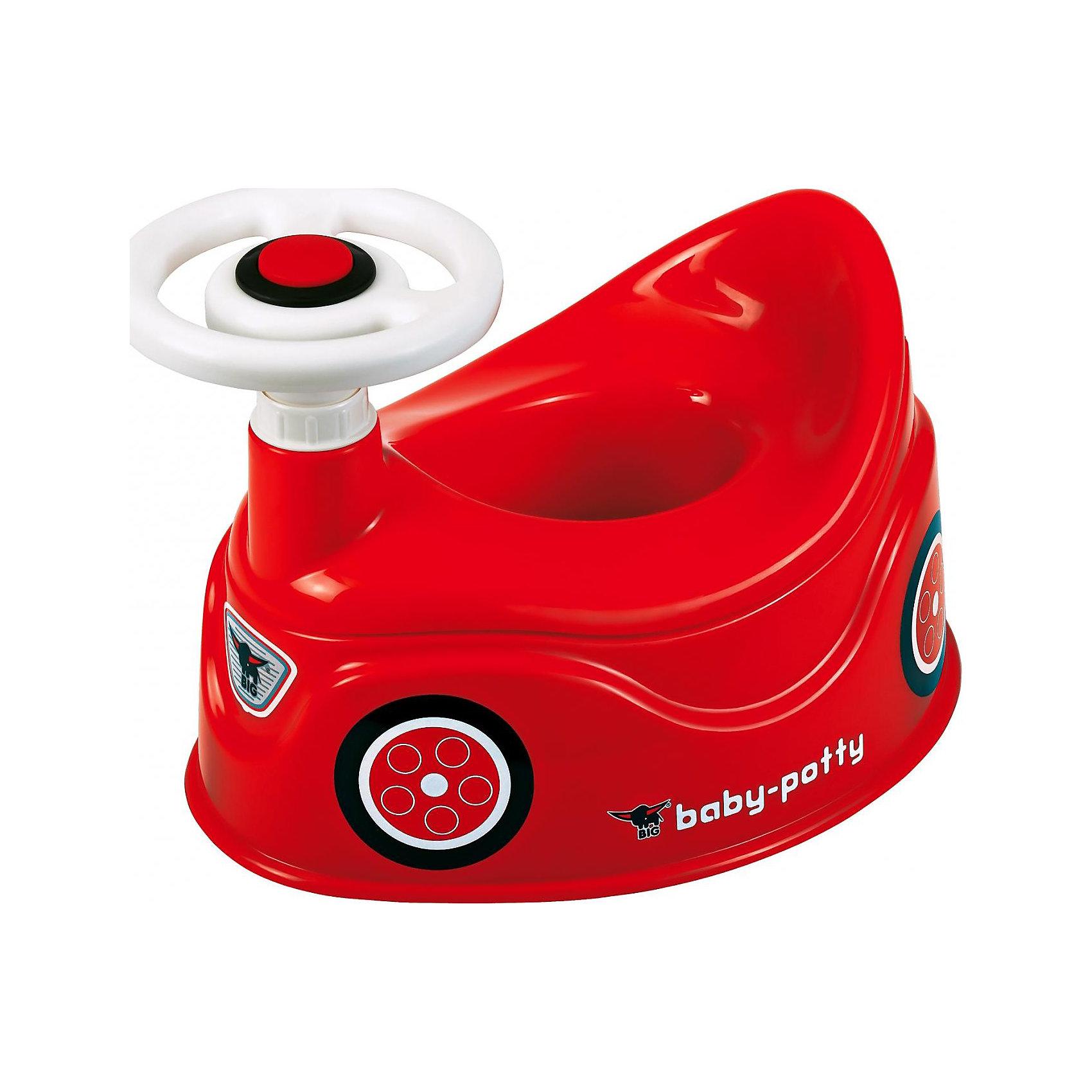 BIG Детский горшокГоршки, сиденья для унитаза, стульчики-подставки<br>BIG Детский горшок - яркий и красочный детский горшок с рулевым управлением! Малыш на таком горшке не заскучает!<br><br>Горшок изготовлен из безопасного пластика. <br>Анатомическая форма сиденья повторяет контуры тела ребенка, что обеспечивает ему максимальный комфорт. <br>Благодаря специально разработанной конструкции, горшок не опрокидывается.<br> С помощью специального крепления к горшку крепится игрушка в виде руля.<br><br>Дополнительная информация:<br><br>Размер упаковки: 410 x 320 x 240 мм<br><br>Ширина мм: 413<br>Глубина мм: 324<br>Высота мм: 213<br>Вес г: 1082<br>Возраст от месяцев: 18<br>Возраст до месяцев: 36<br>Пол: Унисекс<br>Возраст: Детский<br>SKU: 2244082