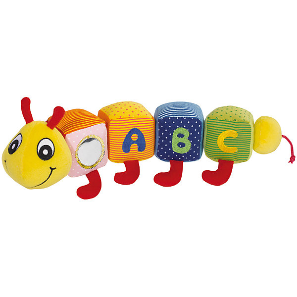 Игрушка Гусеничка, 44см, SimbaМягкие игрушки животные<br>Игрушки Гусеничка, 44см, Simba (Симба) – эта яркая, веселая, добрая гусеничка понравится Вашему малышу.<br>Забавная плюшевая гусеничка от Simba (Симба) — это красочная развивающая игрушка для малышей. Туловище гусенички состоит из четырех разноцветных текстильных кубиков. На одном кубике есть маленькое безопасное зеркальце, на остальных – буквы A, B, C. Заканчивается игрушка круглым мягким хвостиком. Кубики туловища крепятся с помощью липучки-вилькро, при нажатии издают разнообразные звуки. Игрушка не имеет острых и мелких деталей, подходит для самых маленьких детей. Ваш малыш с удовольствием будет заниматься с новой игрушкой. Гусеницу можно легко разбирать, а потом собирать в произвольном порядке, ее можно мять, трогать (при этом развиваются тактильные чувства детей), можно изучать себя в зеркальце, можно с ней спать или придумывать простейшие ролевые игры. Игрушка изготовлена из высококачественного текстиля и безопасна для здоровья малыша.<br><br>Дополнительная информация:<br><br>- Длина игрушки: 44 см.<br>- Материал: текстиль<br><br>Игрушку Гусеничка, 44см, Simba (Симба) можно купить в нашем интернет-магазине.<br><br>Ширина мм: 120<br>Глубина мм: 400<br>Высота мм: 140<br>Вес г: 311<br>Возраст от месяцев: 6<br>Возраст до месяцев: 36<br>Пол: Унисекс<br>Возраст: Детский<br>SKU: 2246337