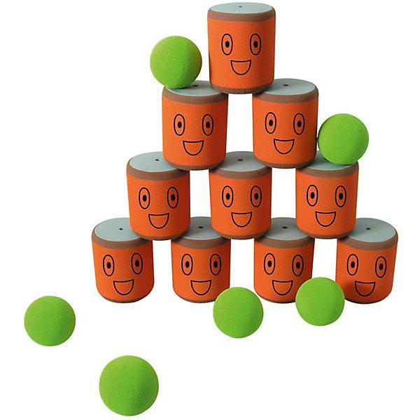 Игра Городки, SafSofИгровые наборы<br>Правила:<br>Игра в городки заключается в выбивании фигур, построенных из трех и более городков (банок), мячами с определенного расстояния. <br>Постановка фигур и расстояние, с которого выбиваются фигуры - произвольные. <br>Количество участников: два и более. <br>Каждый участник сбивает фигуру с одного и того же расстояния. На каждую фигуру дается 3 броска. Если участнику удается сбить фигуру с первого броска, он получает 3 балла, со второго - 2 и с третьего - 1 балл соответственно. <br>Выигрывает тот участник, который набирает наибольшее количество баллов за игру. <br><br>В наборе: 10 банок, 6 мячей для сбивания фигур.<br><br>ВНИМАНИЕ! Данный артикул имеется в наличии в разных цветовых исполнениях. К сожалению, заранее выбрать определенный цвет не возможно.<br><br>Ширина мм: 495<br>Глубина мм: 370<br>Высота мм: 85<br>Вес г: 810<br>Возраст от месяцев: 36<br>Возраст до месяцев: 1188<br>Пол: Унисекс<br>Возраст: Детский<br>SKU: 2251817