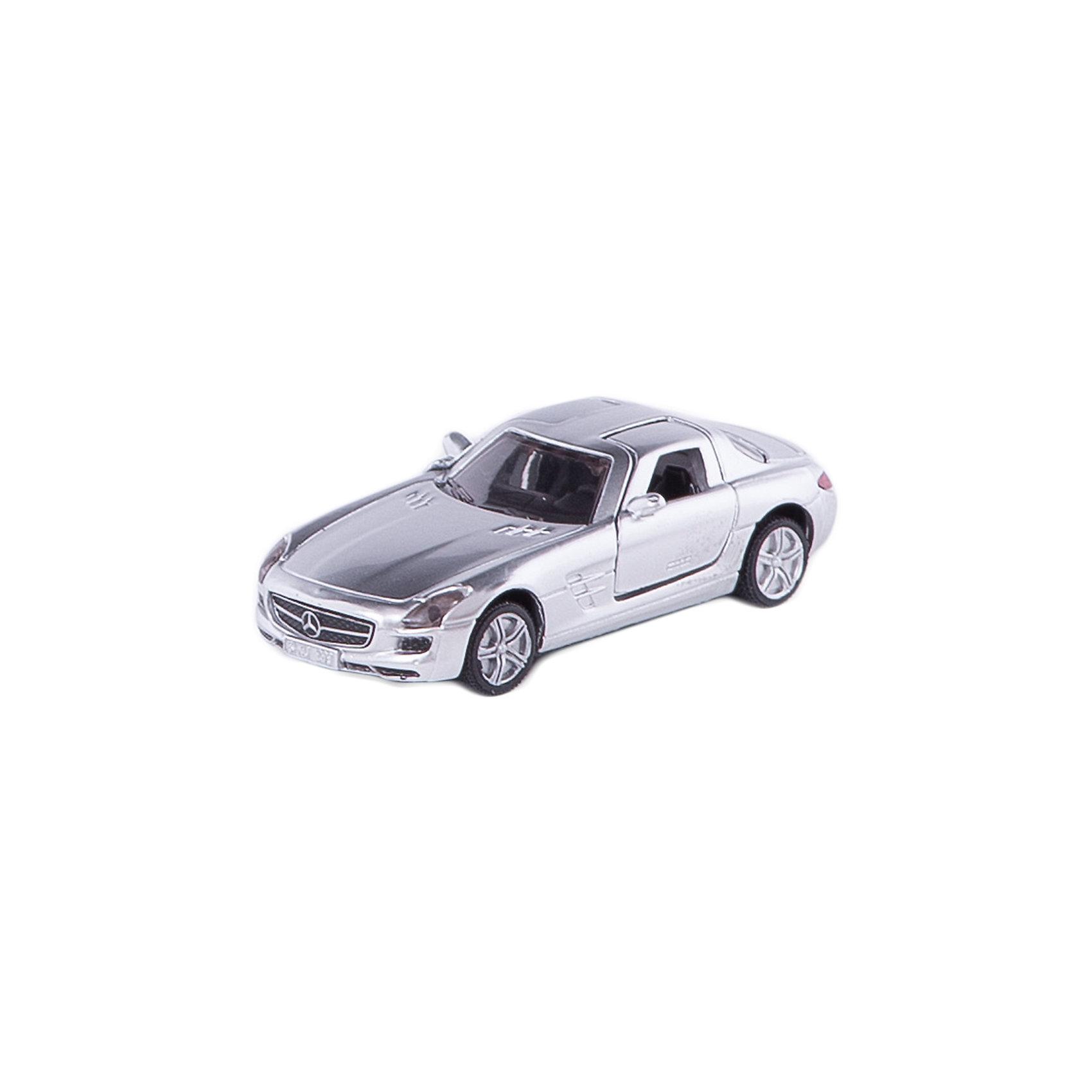 SIKU 1445 Мерседес SLSКоллекционные модели<br>Мерседес SLS 1445, Siku, станет замечательным подарком для автолюбителей всех возрастов. Модель представляет из себя реалистичную копию популярного спорткара Мерседес SLS и отличается высокой степенью детализации и тщательной проработкой всех элементов. Машина оснащена прозрачными лобовыми стеклами, в салоне можно увидеть сиденья и руль, двери открываются вверх. Колеса вращаются, широкие шины оборудованы спортивными колесными дисками. Корпус модели выполнен из металла, детали изготовлены из ударопрочной пластмассы.<br><br>Дополнительная информация:<br><br>- Материал: металл, пластик.<br>- Масштаб: 1:55.<br>- Размер машинки: 8,3 x 4,7 x 3,4 см.<br>- Размер упаковки: 10 x 8 x 3 см.<br>- Вес: 59 гр.<br><br>1445 Мерседес SLS, Siku, можно купить в нашем интернет-магазине.<br><br>Ширина мм: 96<br>Глубина мм: 78<br>Высота мм: 50<br>Вес г: 64<br>Возраст от месяцев: 36<br>Возраст до месяцев: 96<br>Пол: Мужской<br>Возраст: Детский<br>SKU: 2257964