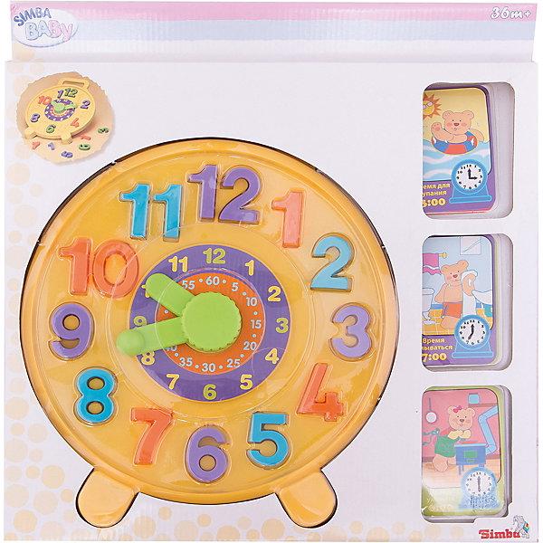 Часики - пазлы, SimbaРазвивающие центры<br>Характеристики:<br><br>• цифры-пазлы;<br>• карточки с заданиями;<br>• диаметр игрушки: 26,5 см;<br>• материал: пластик, картон;<br>• в комплекте: 12 цифр, 8 карточек;<br>• размер упаковки: 40х38х3 см;<br>• вес: 542 грамма;<br>• страна бренда: Германия.<br><br>Часики-пазлы - увлекательная игрушка, которая поможет родителям познакомит ребенка с понятием времени. <br><br>В комплект входят 12 цифр и 8 карточек с заданиями. Малышу предстоит правильно расставить цифры в циферблат и самостоятельно установить время, указанное в заданиях. <br><br>Игра поможет развить мелкую моторику, память и внимательность. Игрушка изготовлена из пластика, безопасного для детей.<br><br>Часики - пазлы, Simba (Симба) можно купить в нашем интернет-магазине.<br><br>Ширина мм: 380<br>Глубина мм: 30<br>Высота мм: 400<br>Вес г: 429<br>Возраст от месяцев: 12<br>Возраст до месяцев: 2147483647<br>Пол: Унисекс<br>Возраст: Детский<br>SKU: 2261027